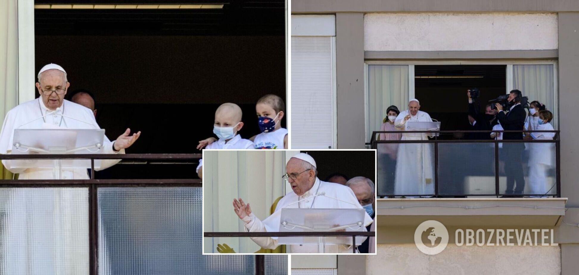 Зазвичай молитву Франциск підносить з Ватикану