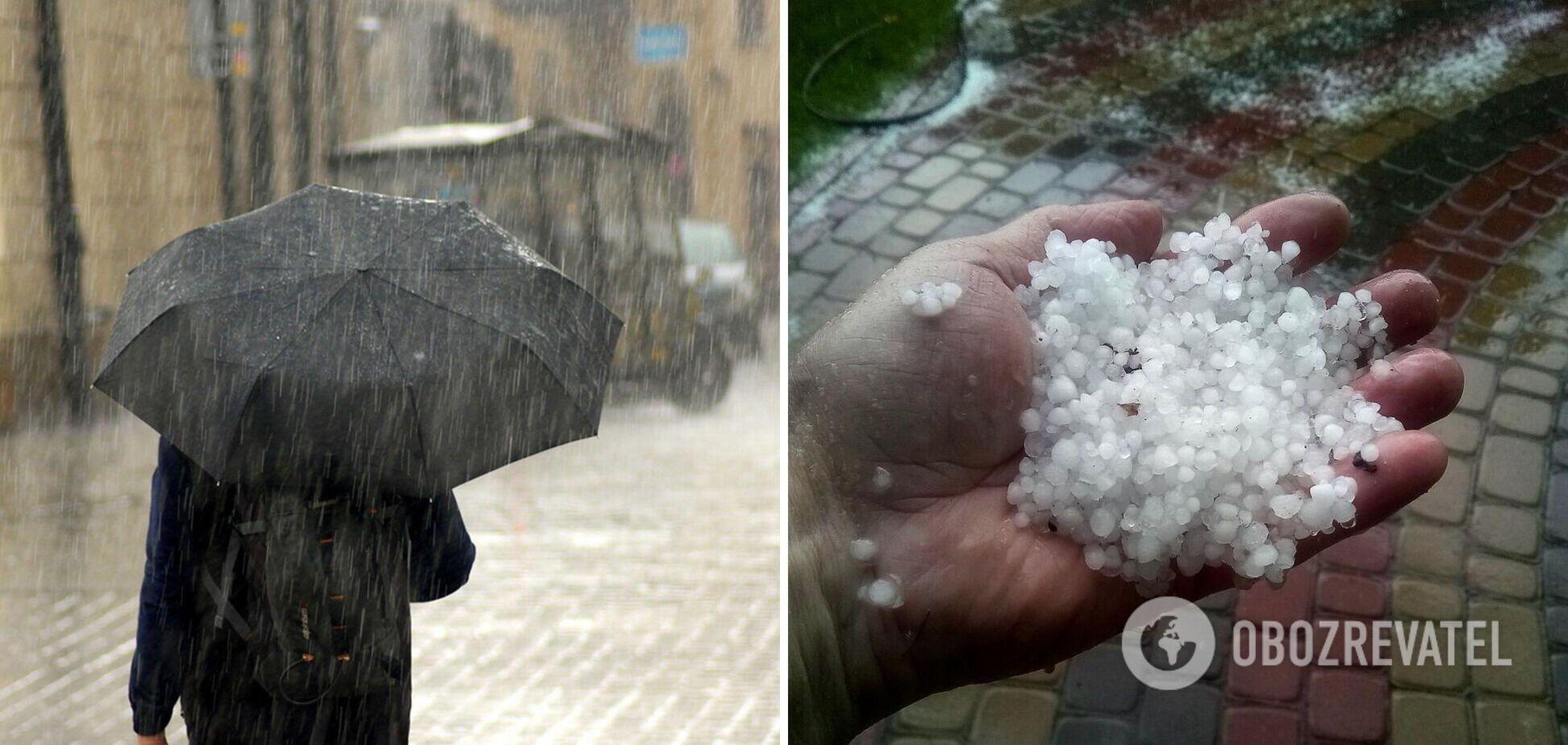 В Украину идут дожди с градом: объявлено штормовое предупреждение