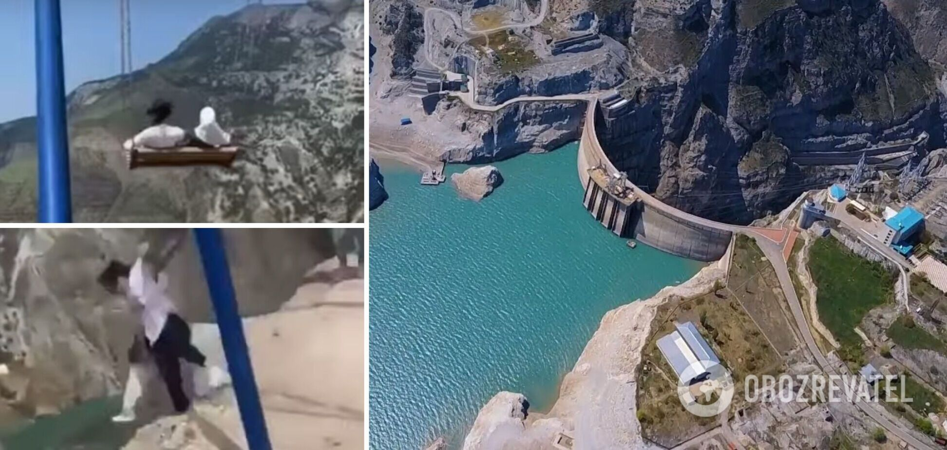 В Дагестане две девушки сорвались с качелей в каньон. Видео опасного аттракциона