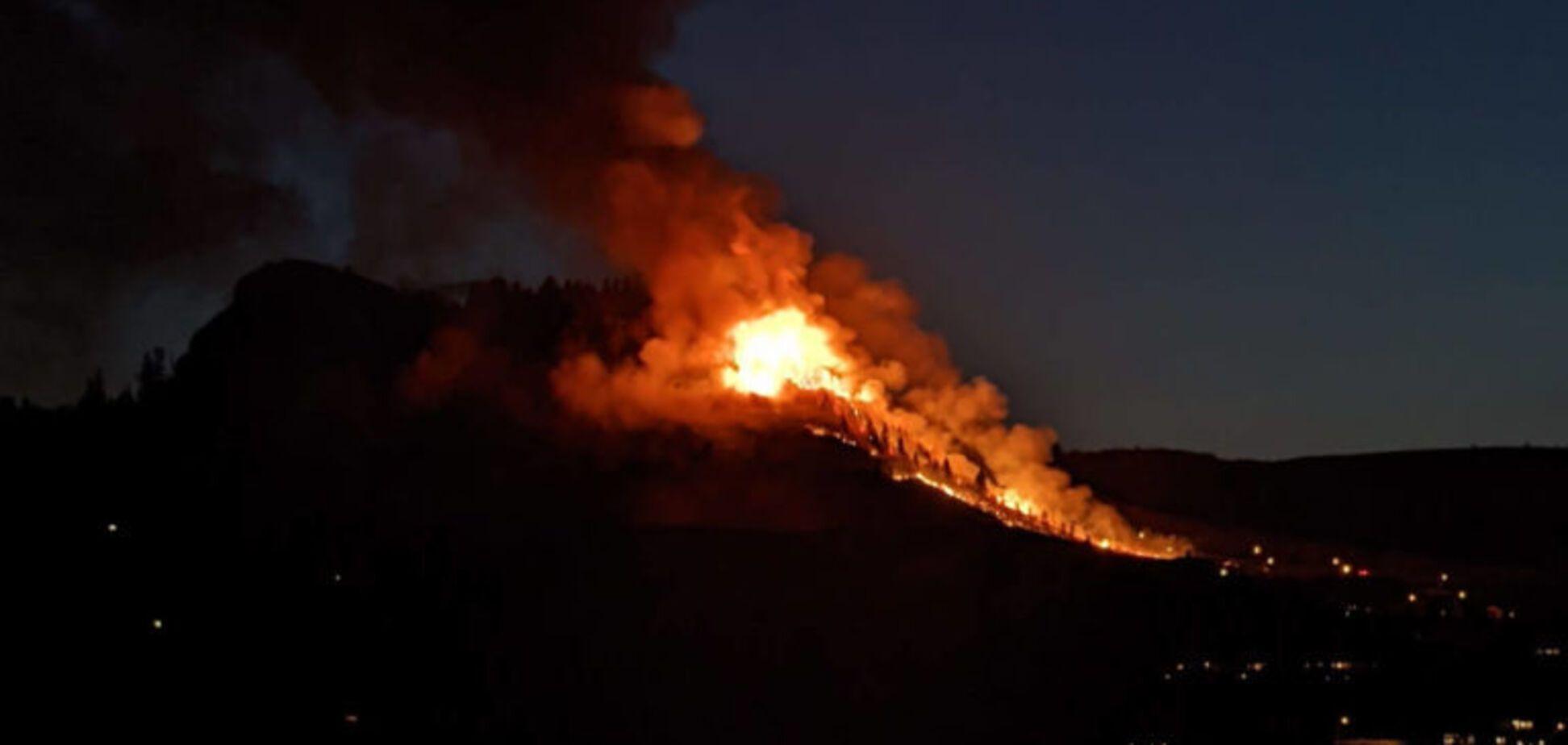 В Калифорнии на фоне аномальной жары бушуют лесные пожары