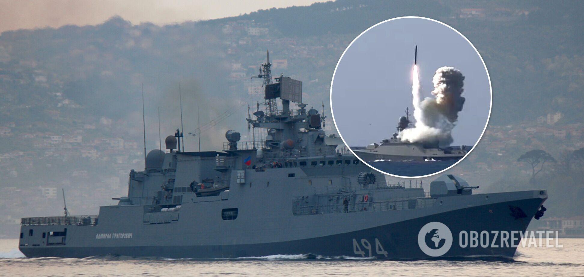 Россия вывела в Черное море боевые корабли для отработки ракетных ударов