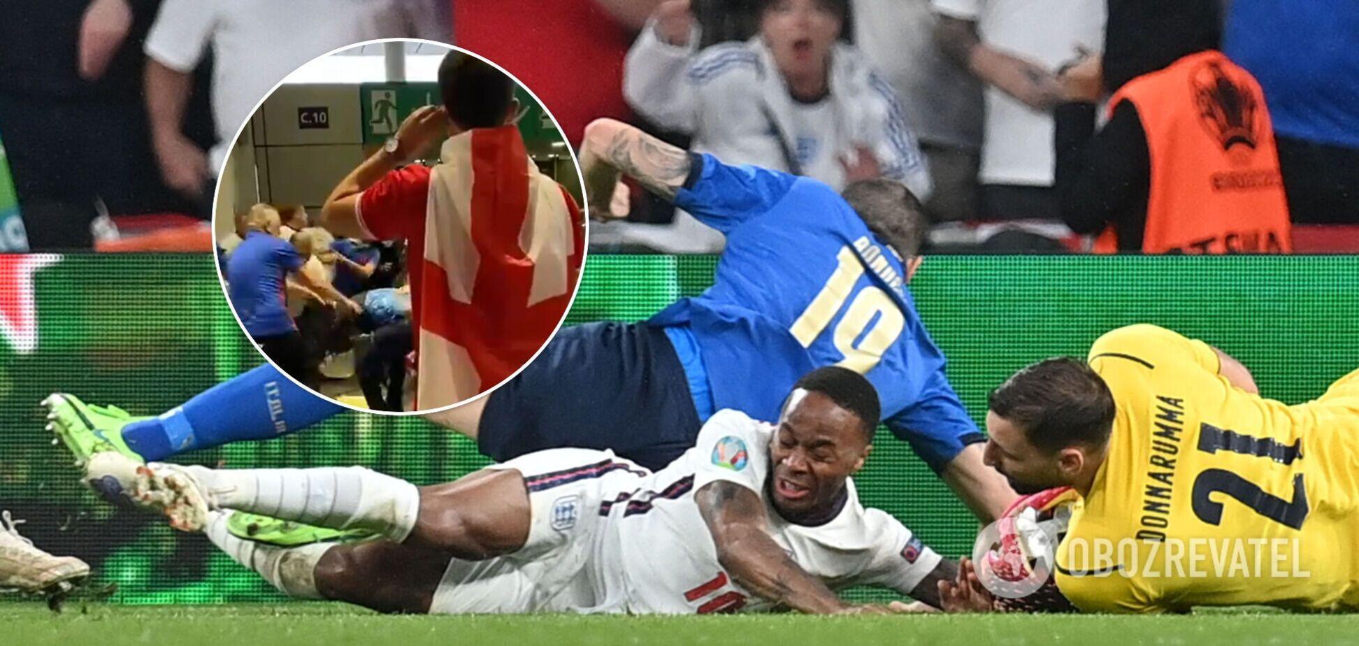 Драка фанатов Англии на финале Евро-2020 собрала 12 млн просмотров. Видео