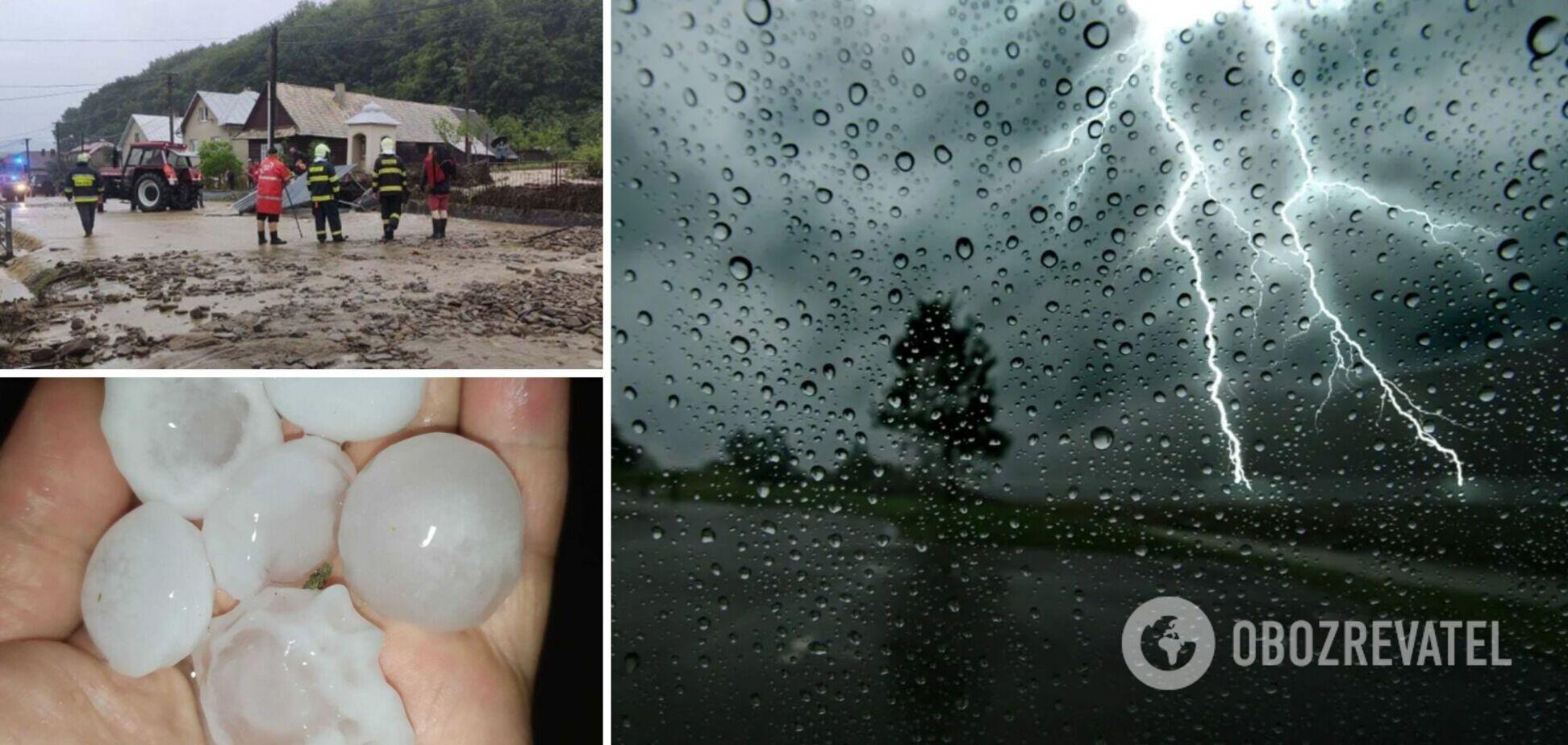 В Словакии во время урагана выпал град размером в мяч для гольфа. Фото