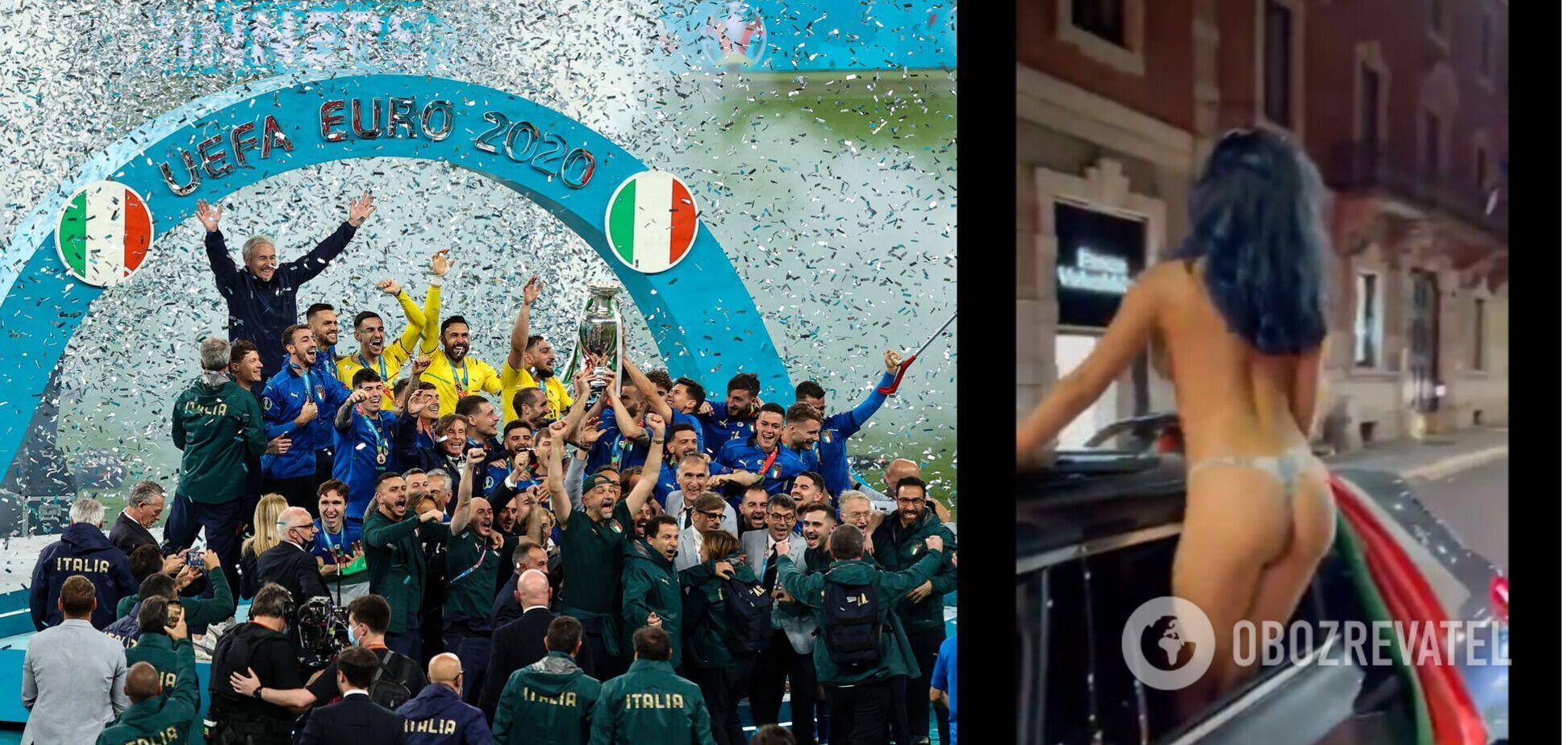 Фанатка сборной Италии разделась в честь победы на Евро-2020