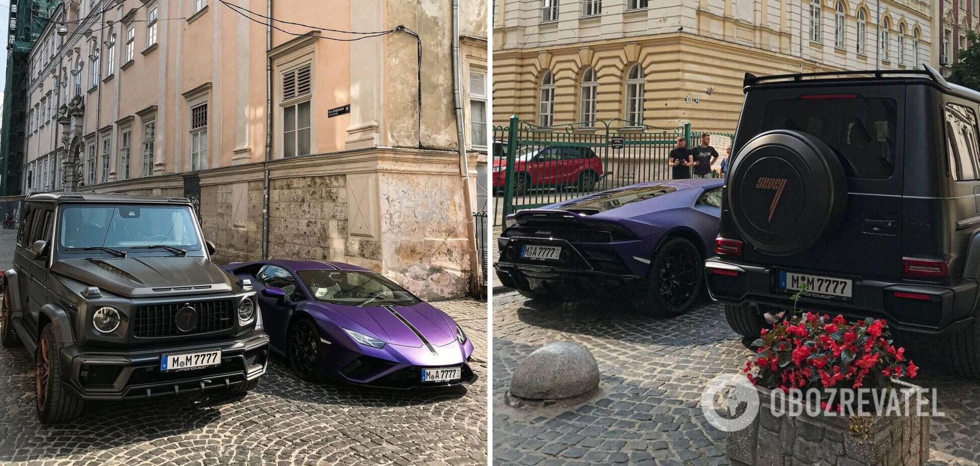 У Львові помітили пару розкішних суперкарів з Європи. Фото