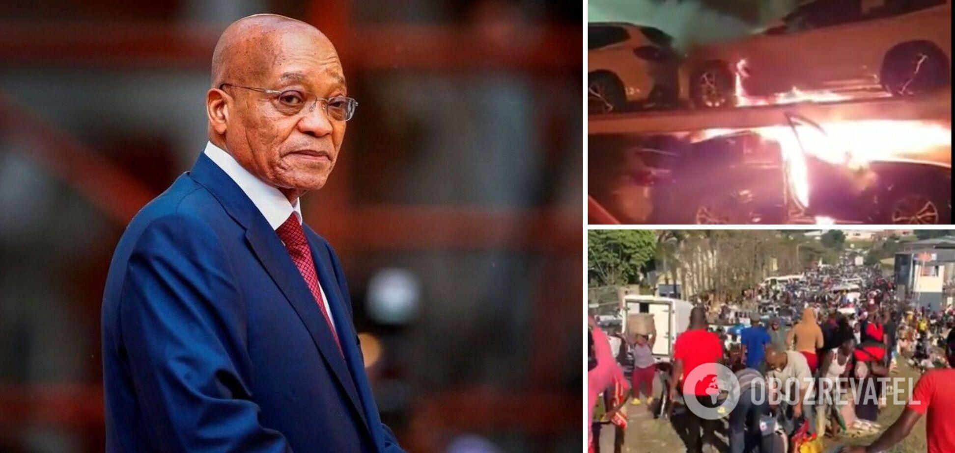 Палять машини і грабують магазини: в ПАР спалахнули протести на батьківщині засудженого експрезидента. Відео