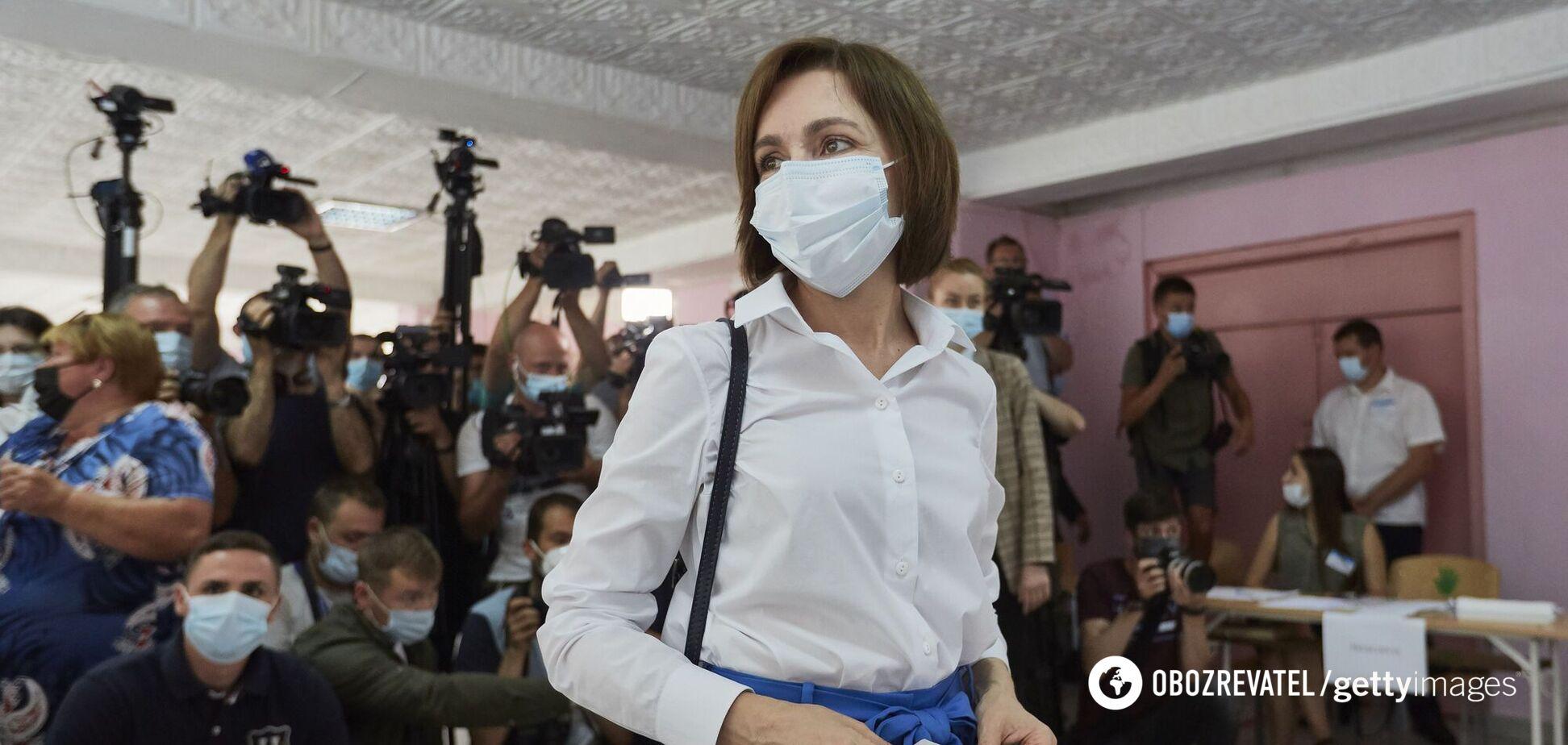 Президентка Молдови Мая Санду лідирує на виборах