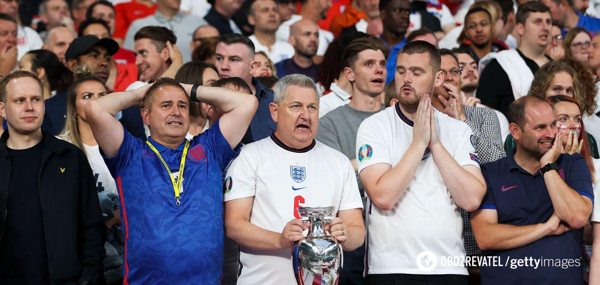 Болельщики сборной Англии