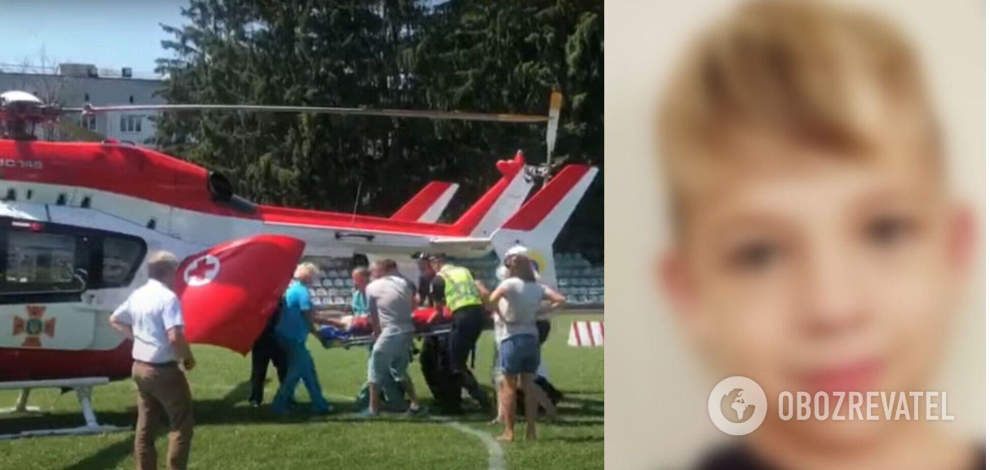 Пораненого на Житомирщині 9-річного хлопчика гелікоптером доправили в Київ, а причетність військового підтвердили