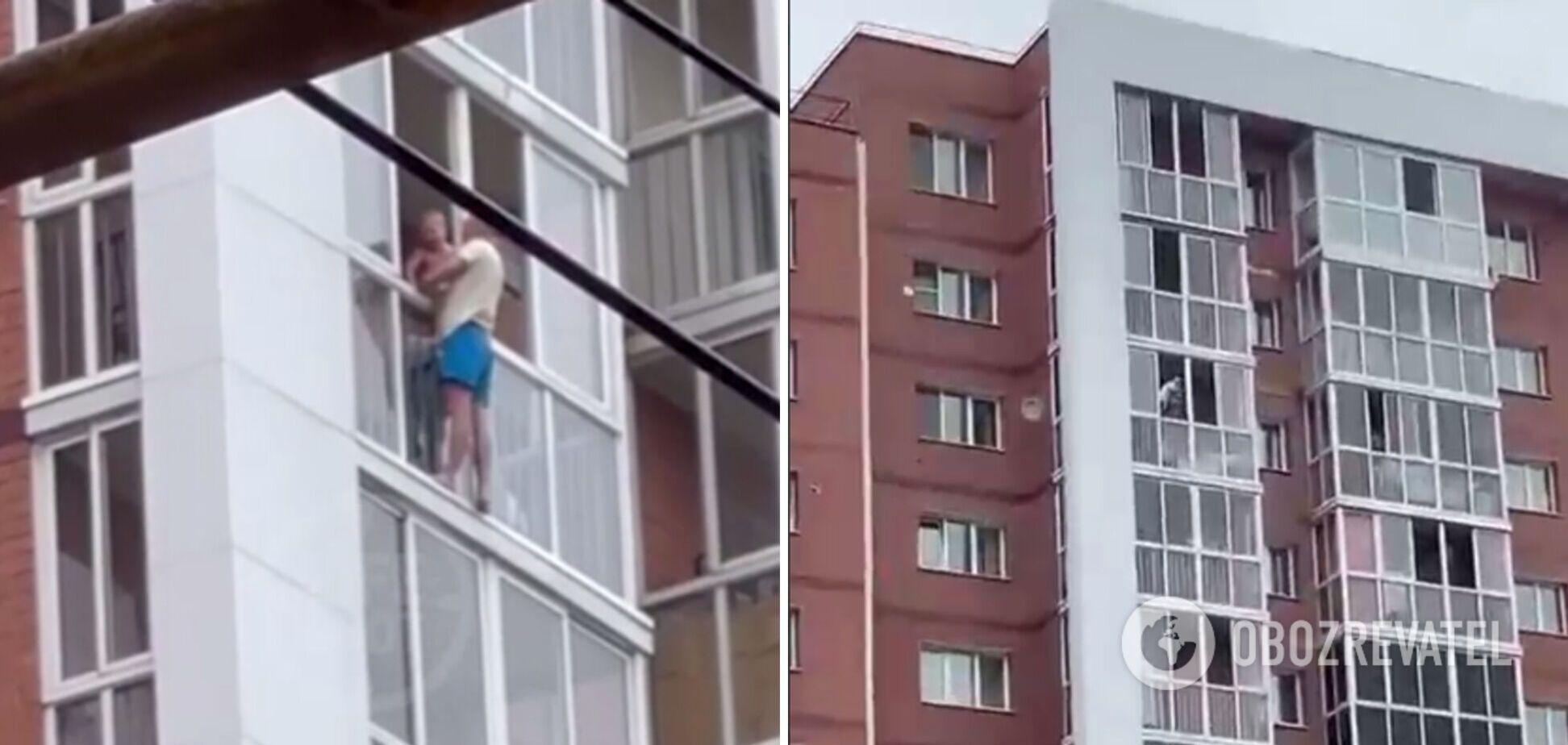 В Иркутске мужчина с ребенком угрожает прыгнуть с 13-го этажа