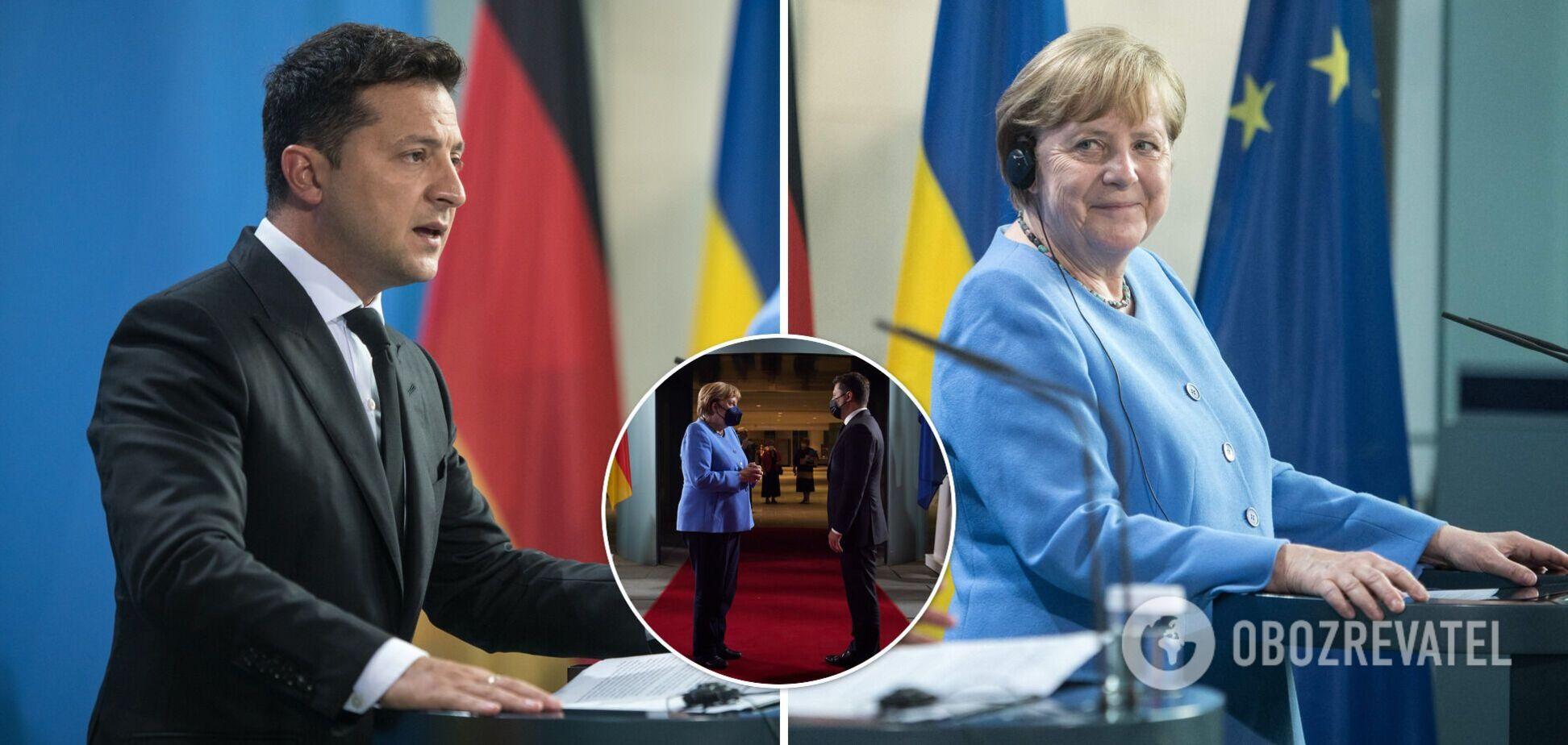 Зеленский рассказал о договоренностях, достигнутых на переговорах с Меркель. Видео