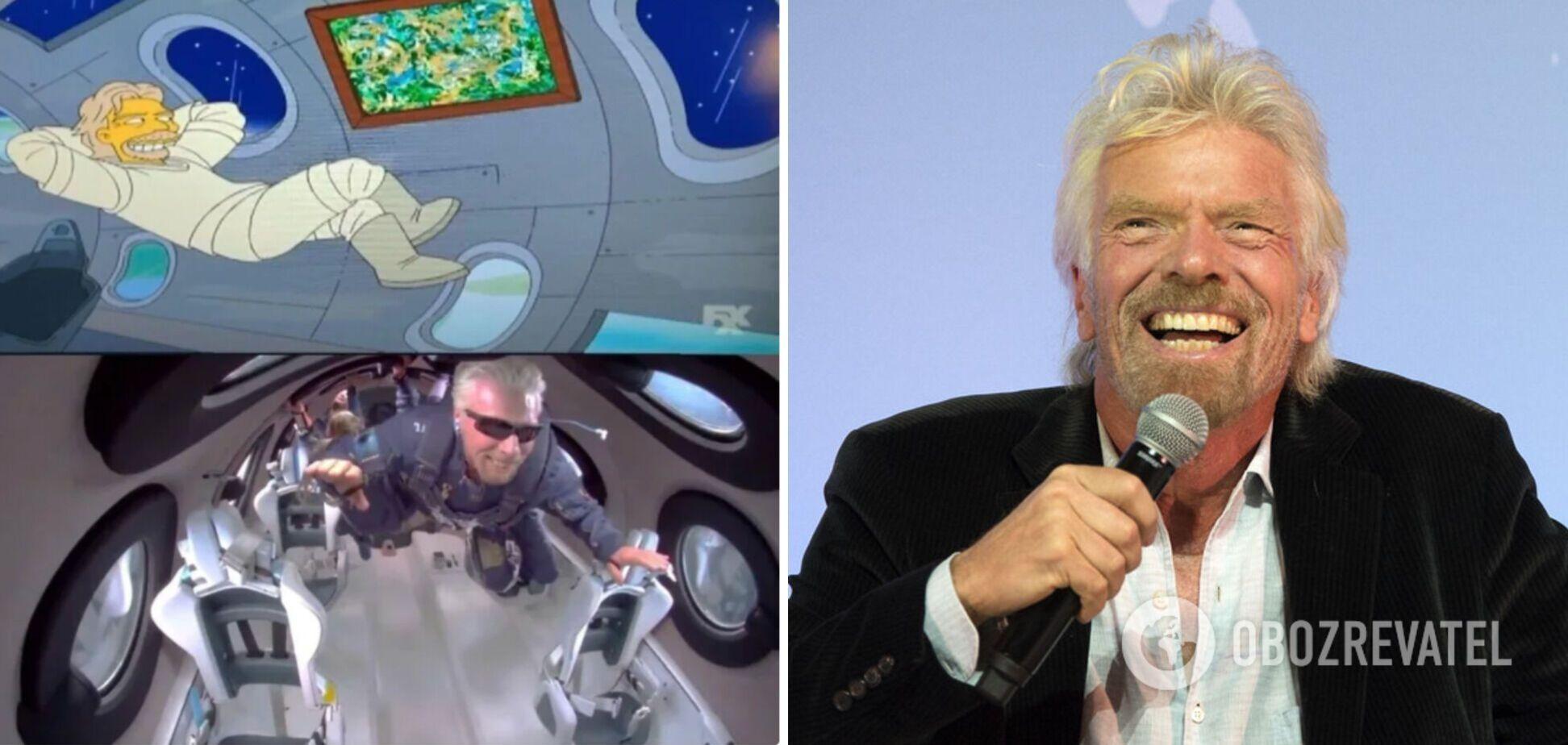 'Сімпсони' знали про політ Бренсона в космос ще 13 років тому: збулось чергове передбачення мультсеріалу