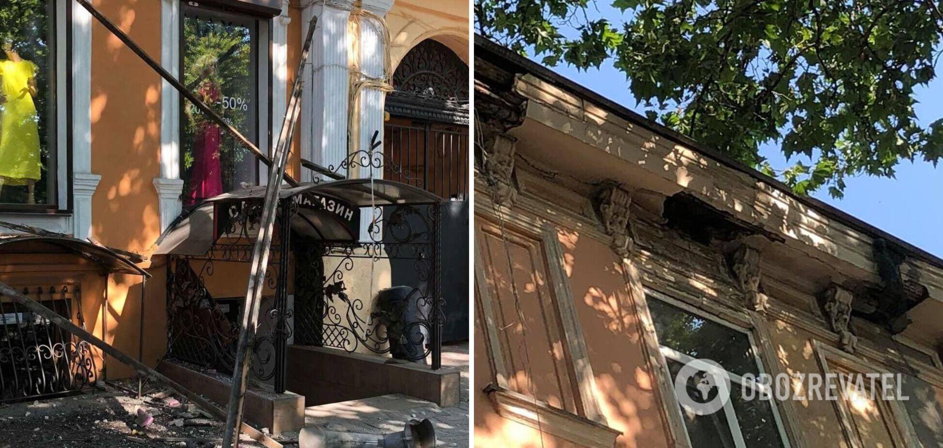 У центрі Одеси обвалилася частина фасаду історичної будівлі. Фото і відео