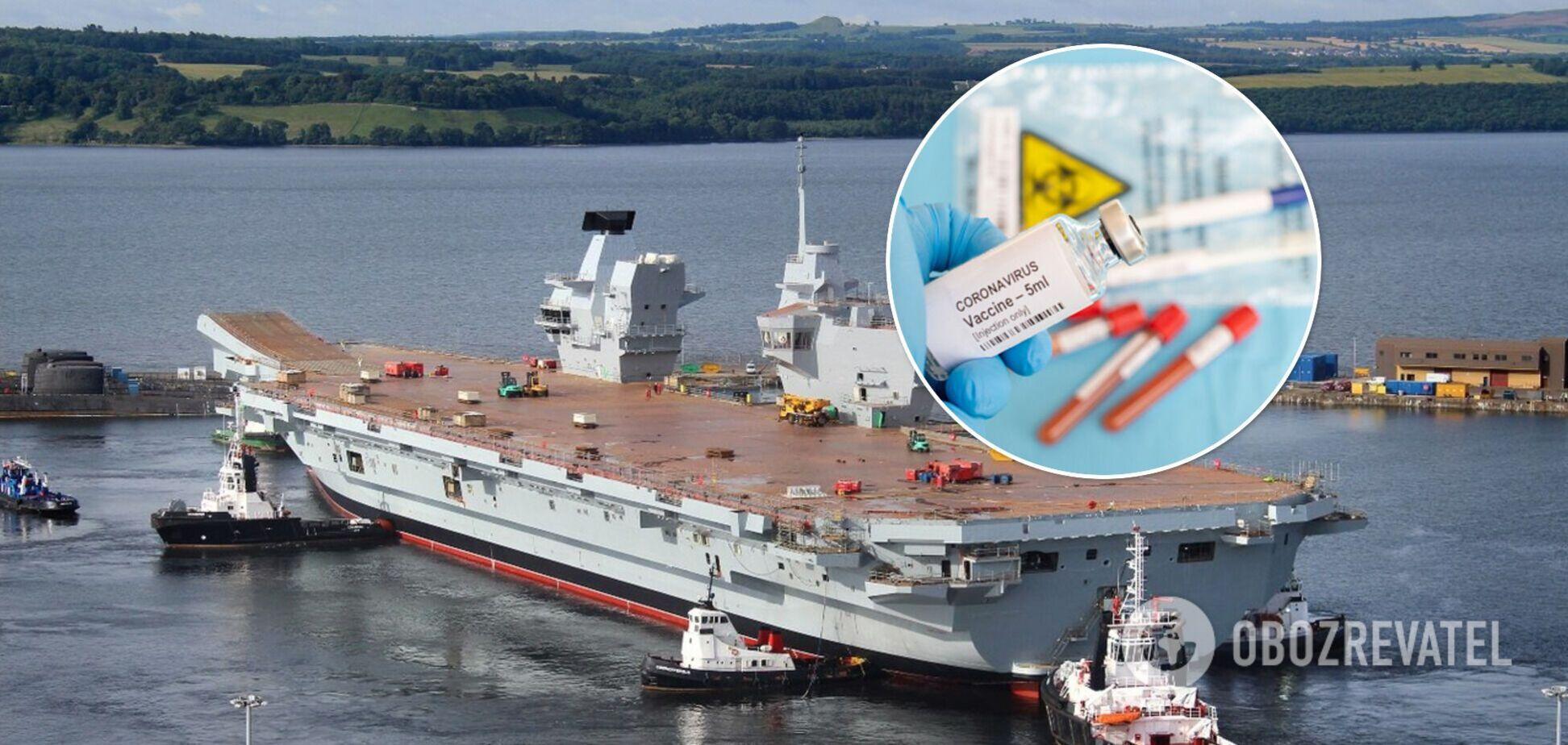 Вспышка COVID-19 на британском авианосце: заболели более 100 дважды вакцинированных моряков