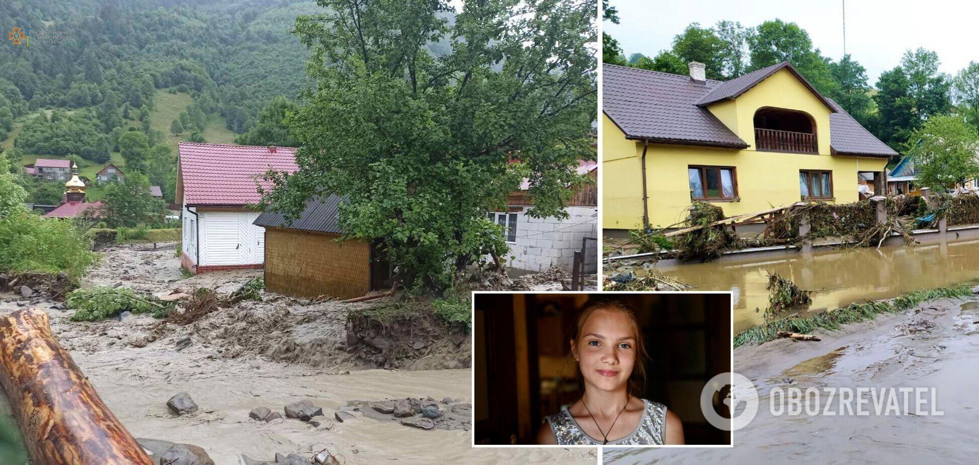 12-річна дівчинка із Закарпаття врятувала чотирьох дітей під час повені. Фото