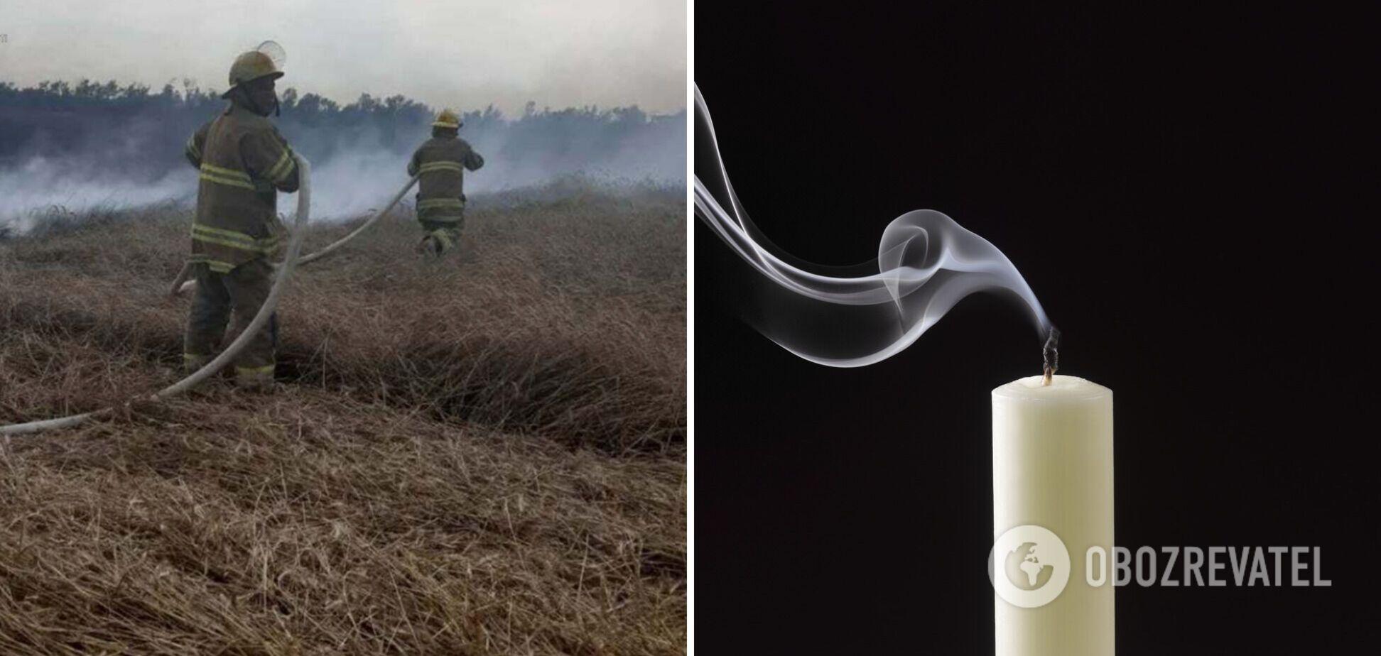Під Одесою згоріло поле, а на Київщині вбили чоловіка