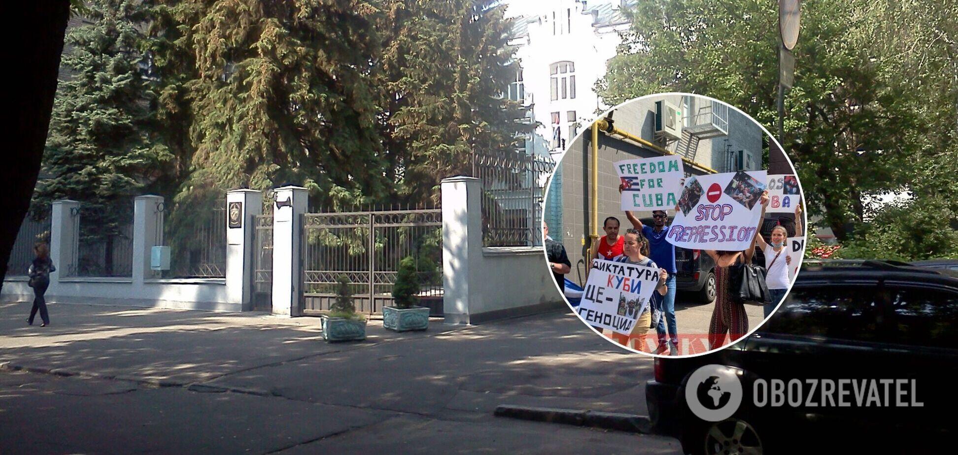 За акцией протеста наблюдали правоохранители