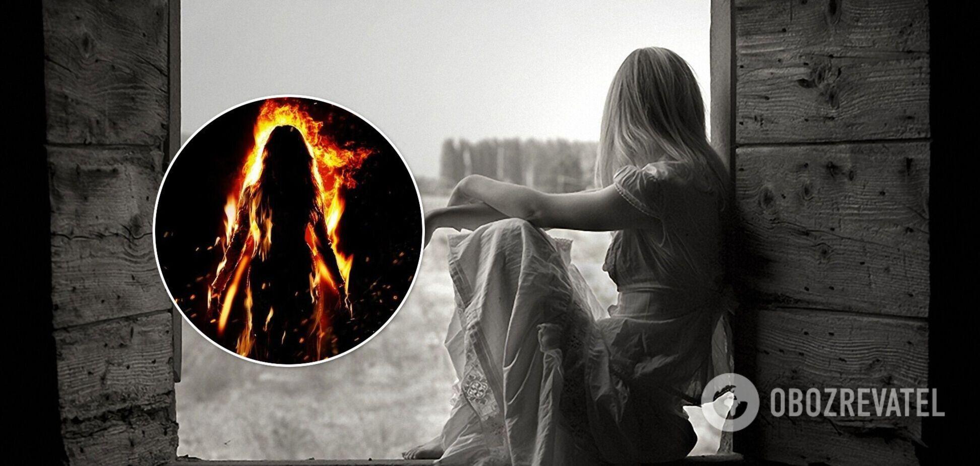 На Київщині 17-річна дівчина через нерозділене кохання облила себе бензином та підпалила