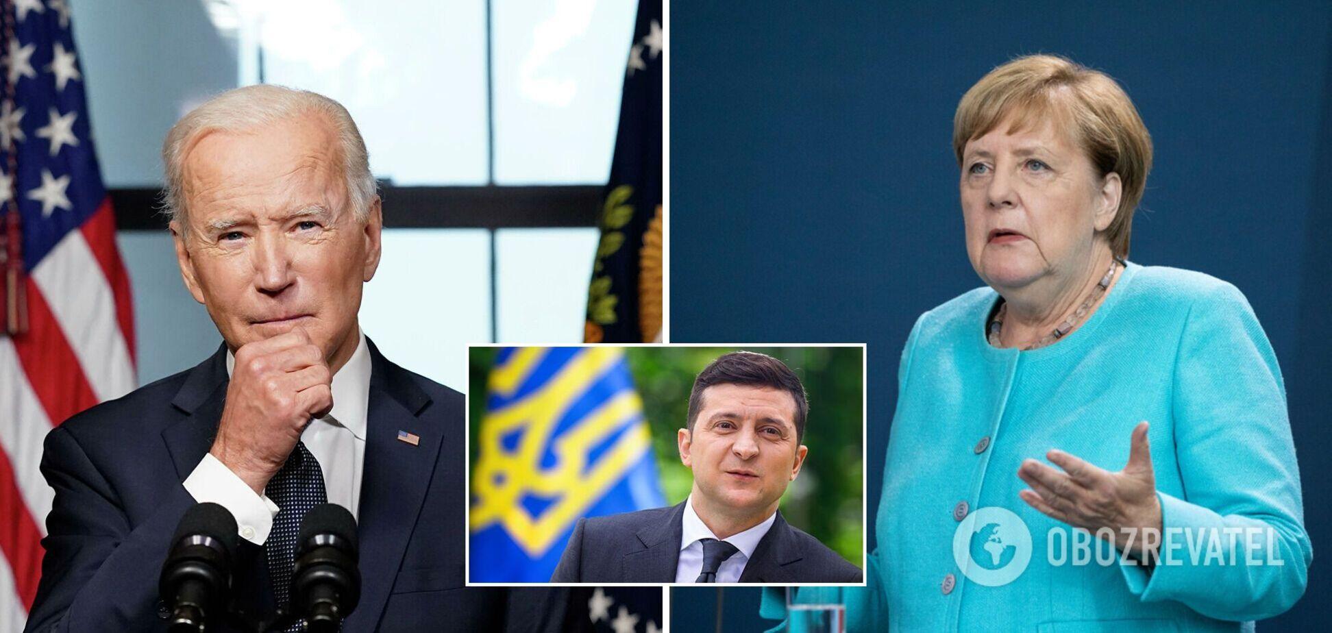 Зеленський висловився про переговори Байдена і Меркель