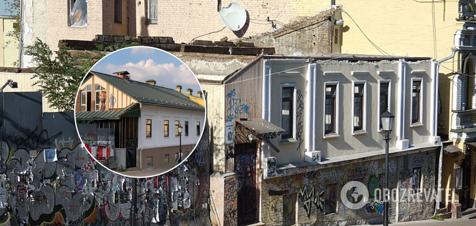 В Киеве на Андреевском спуске спасли уникальный деревянный дом начала XIX века. Фото