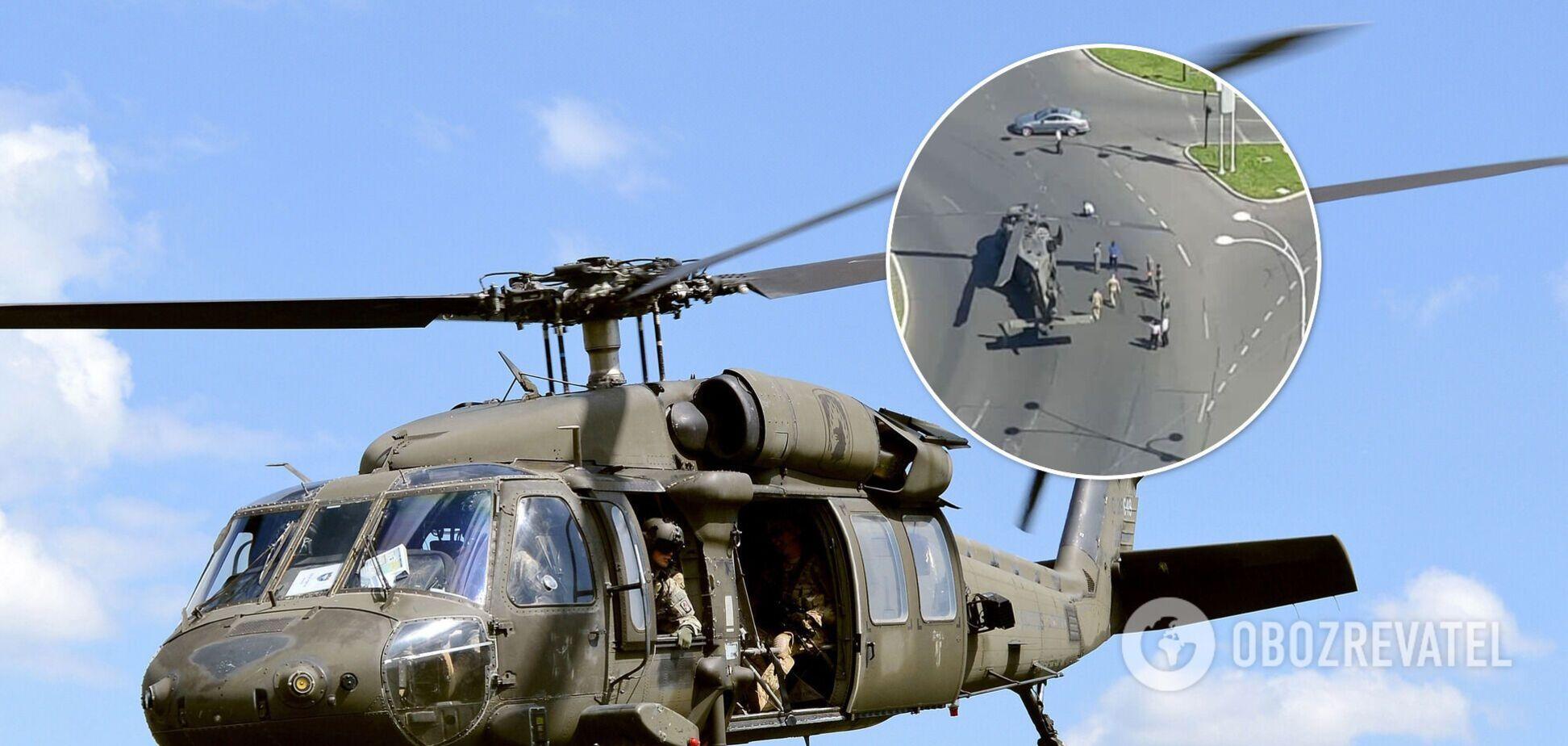 В центре Бухареста экстренно сел вертолет ВВС США. Фото и видео