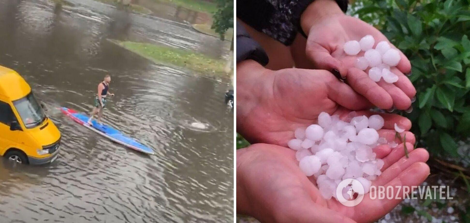 Потоп в Беларуси после ливня