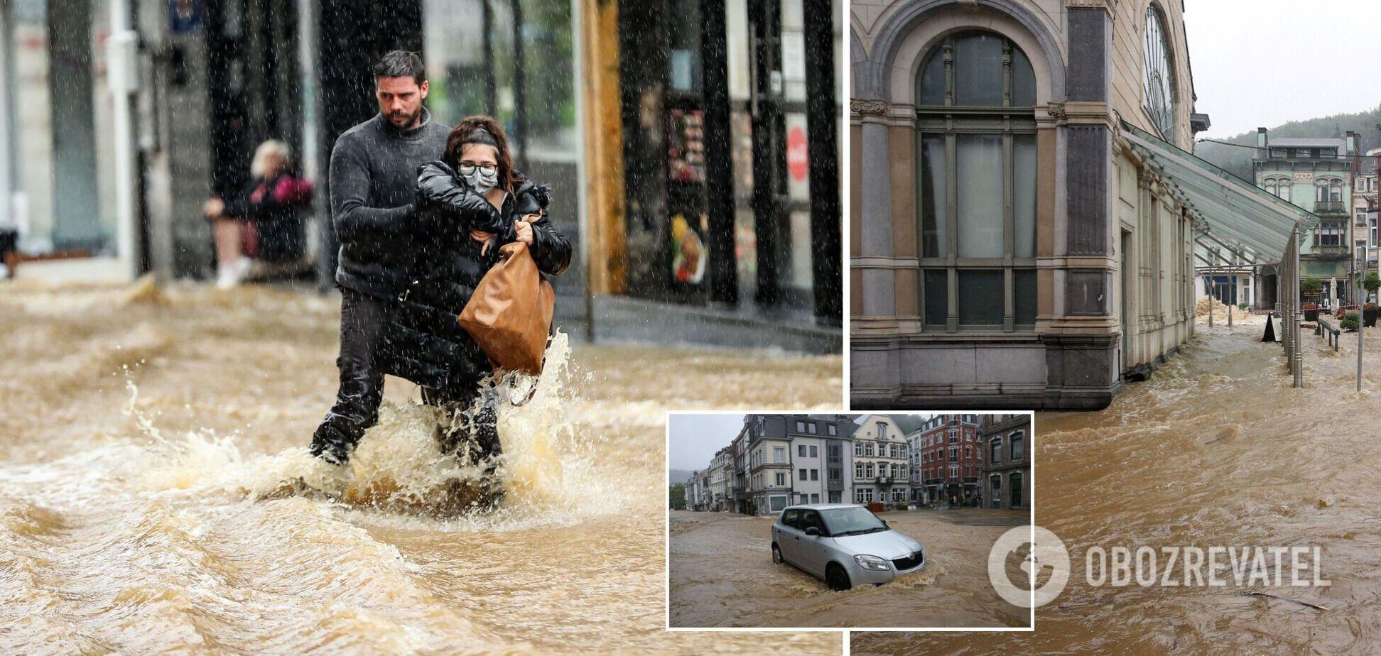 Мощные ливни вызвали потоп в Бельгии, власти проводят эвакуацию. Фото и видео