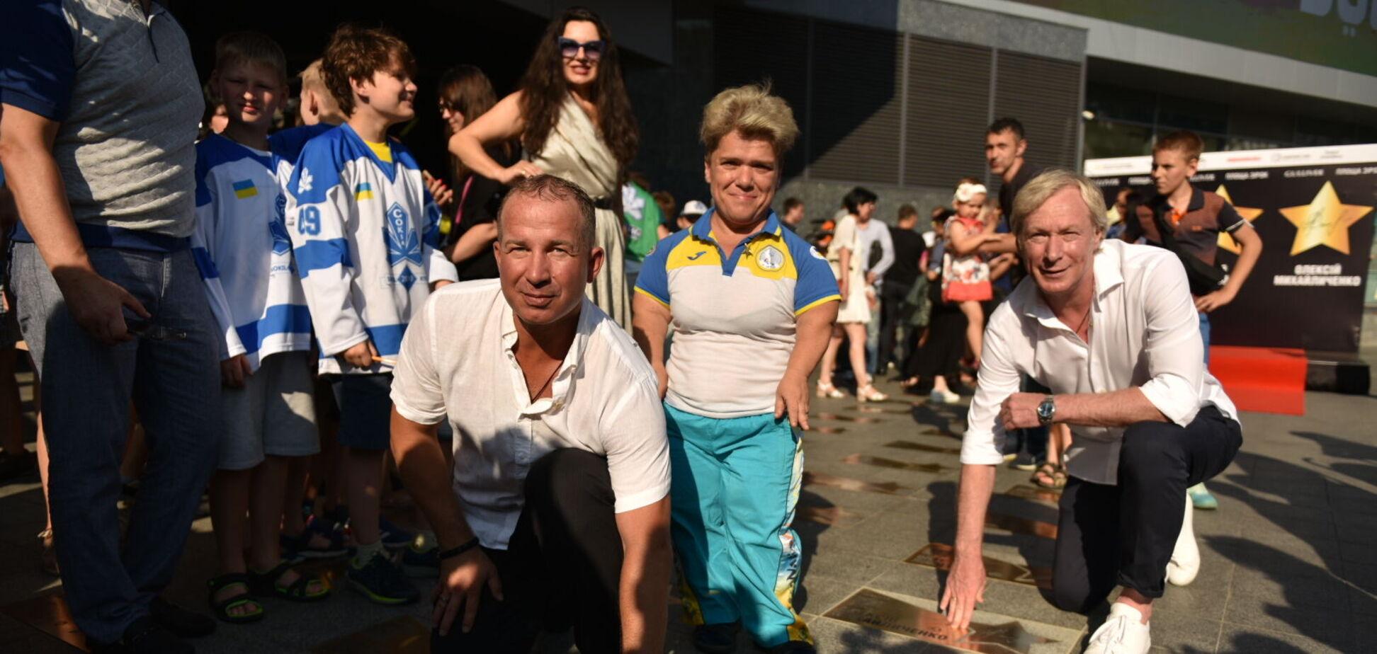 На 'Площади звезд' в Киеве почтили трех знаменитых спортсменов
