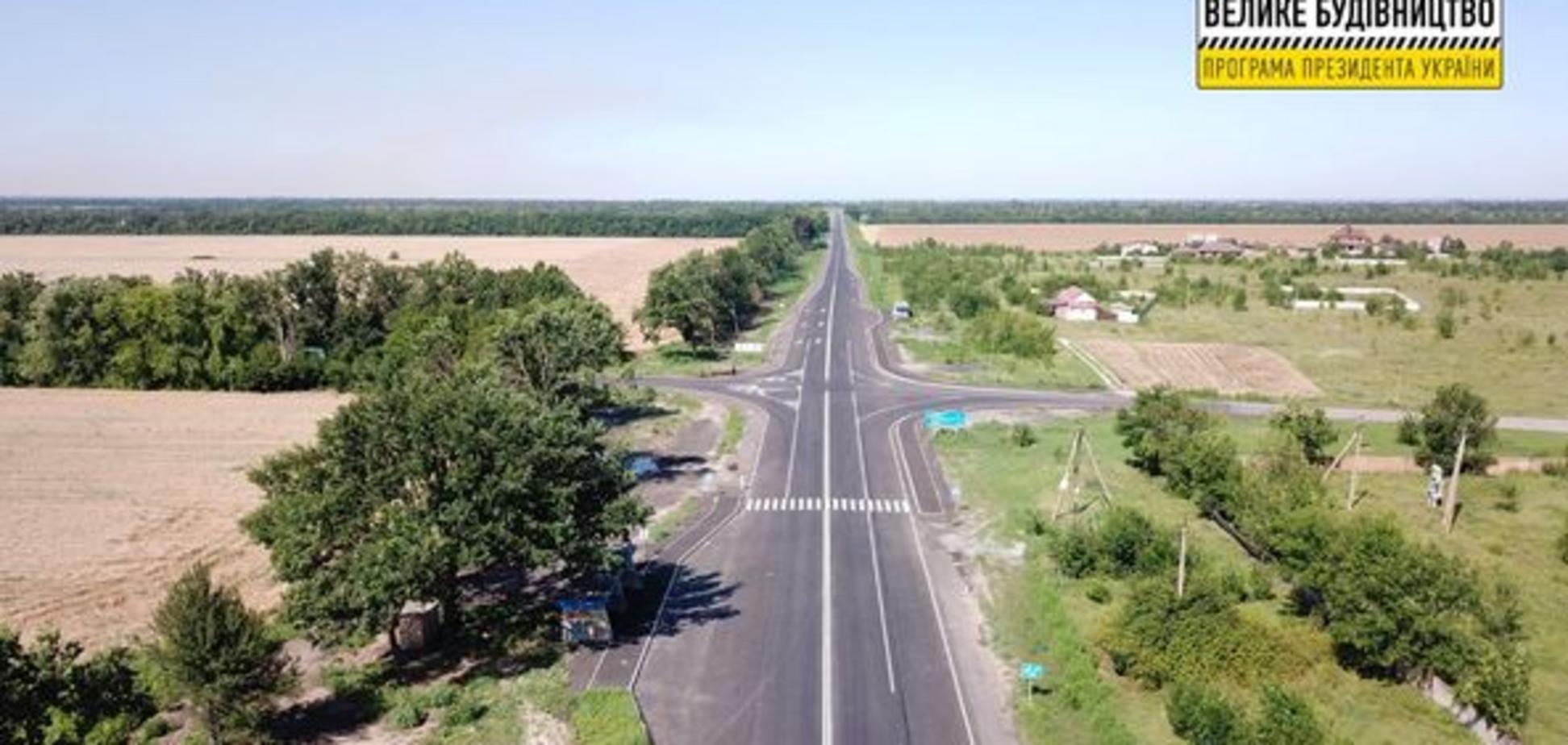 По программе Зеленского отремонтировали трассу от Запорожья до Днепропетровской области