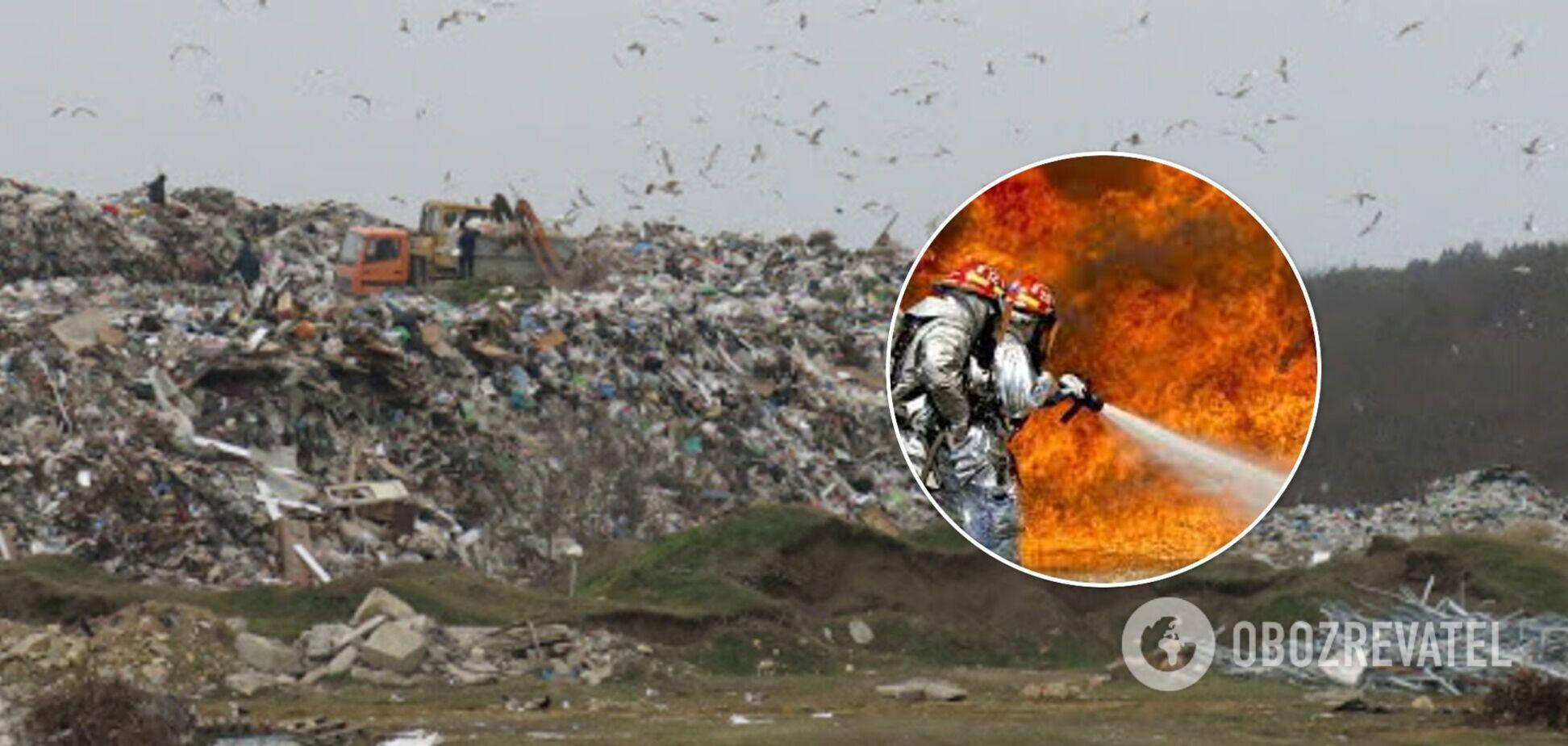 В Крыму вспыхнул пожар на мусорном полигоне: люди пожаловались на дымовую завесу. Видео