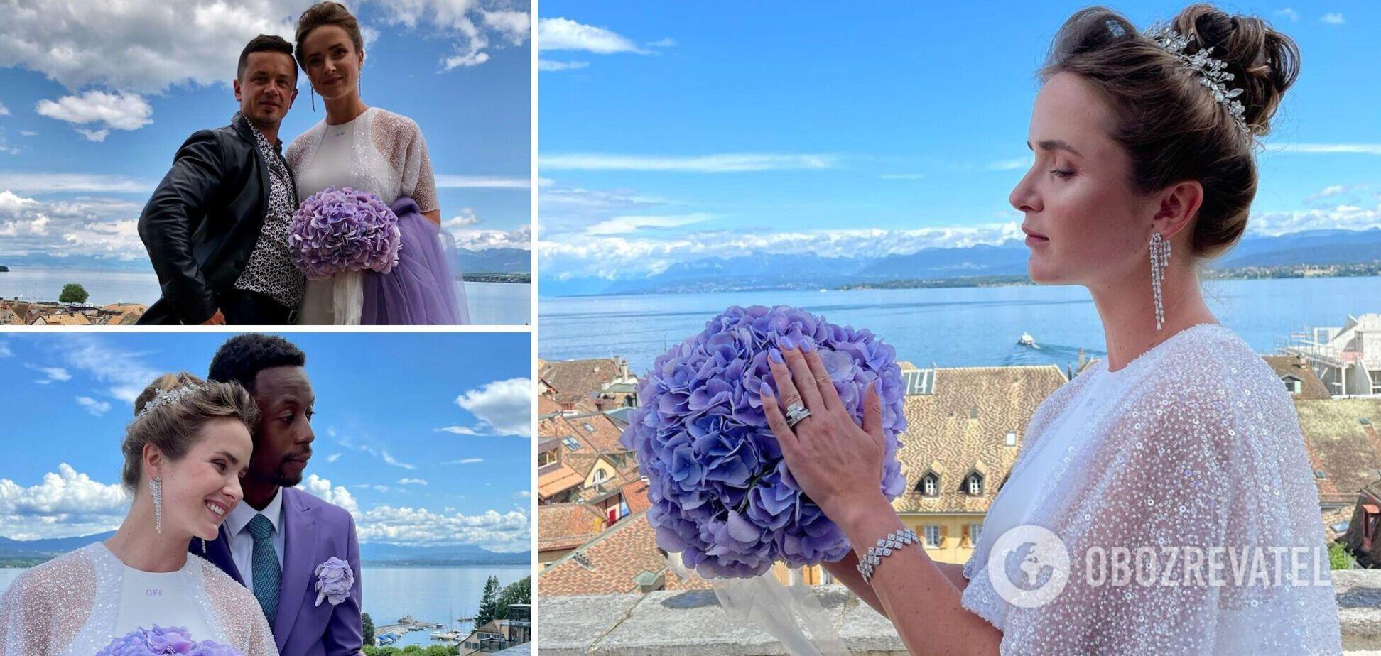 Світоліна вийшла заміж за Монфіса: опубліковано фото з весілля