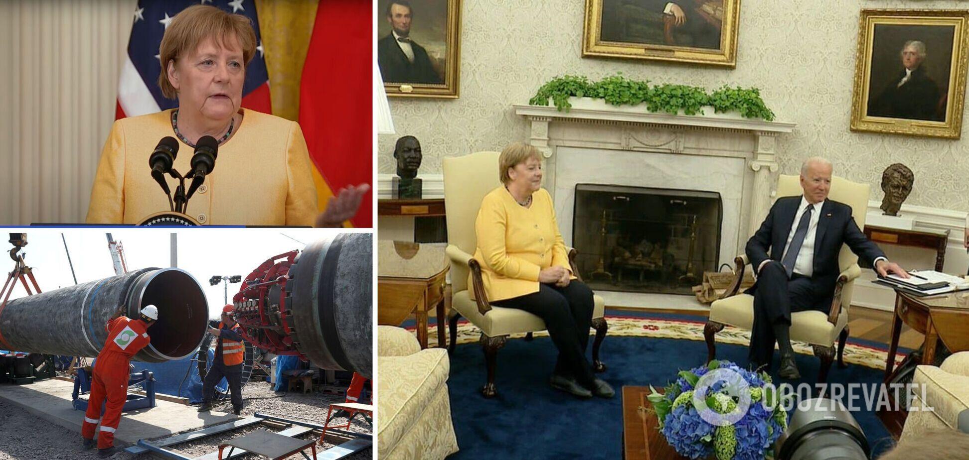 Меркель виступила із заявою щодо 'Північного потоку-2' і України після зустрічі з Байденом