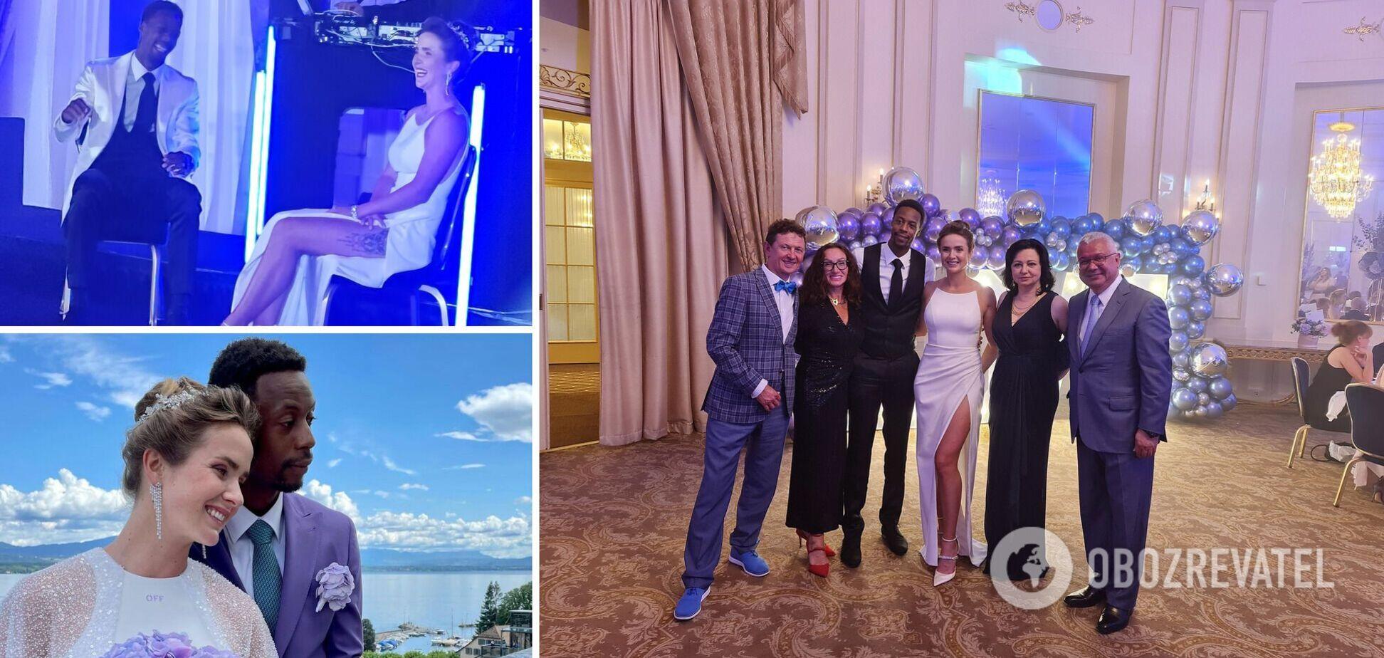 Свитолина вышла замуж и сменила фамилию: новые фото теннисистки в свадебном платье с высоким разрезом