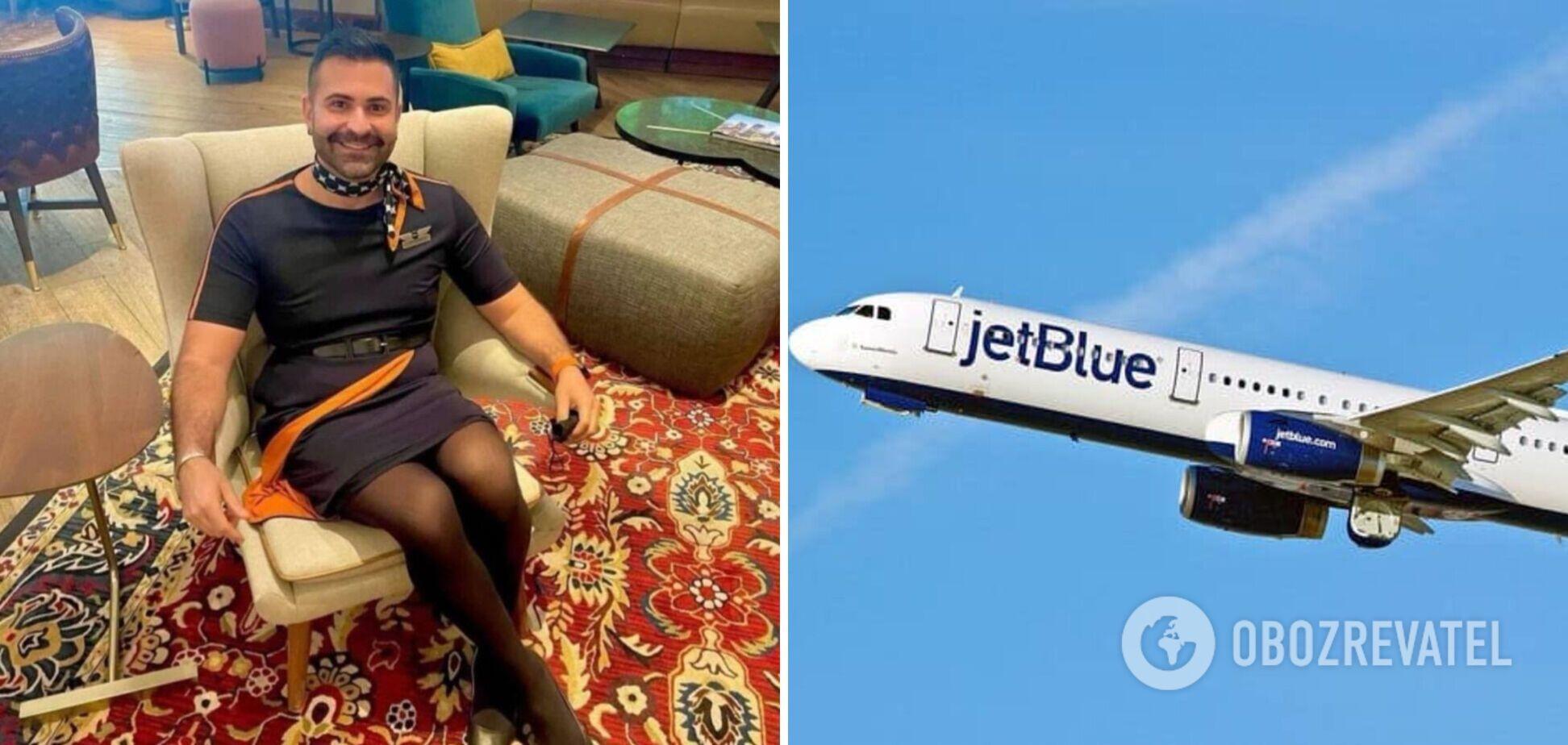 Авиакомпания наняла в стюарты мужчин на каблуках и в платьях. Фото