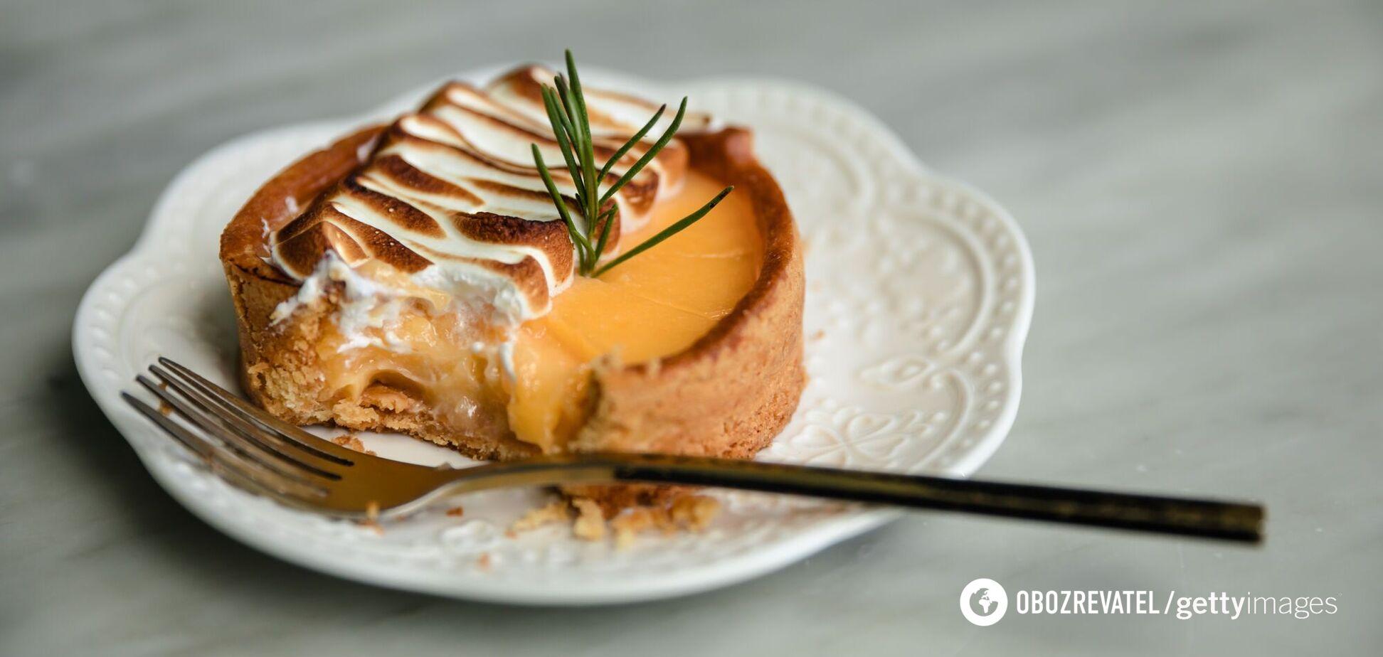 Пирог с цитрусовым кремом