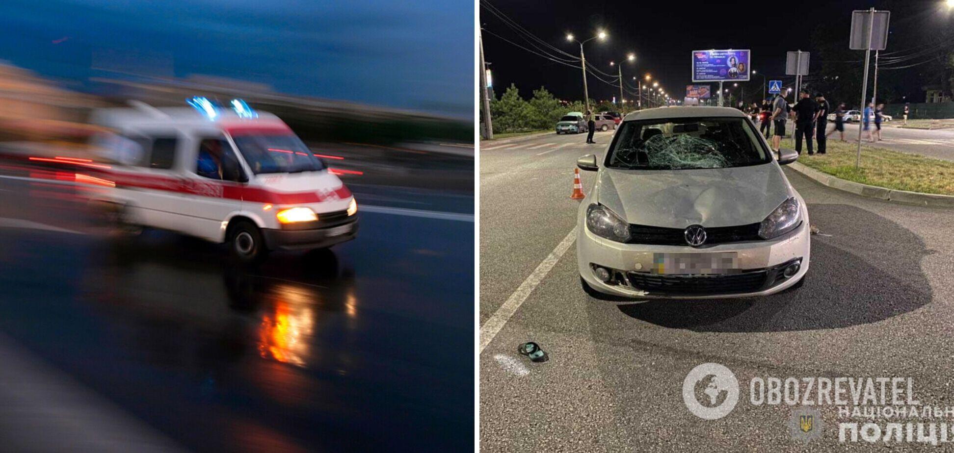 У Запоріжжі водій під наркотиками збив жінку з дитиною. Фото