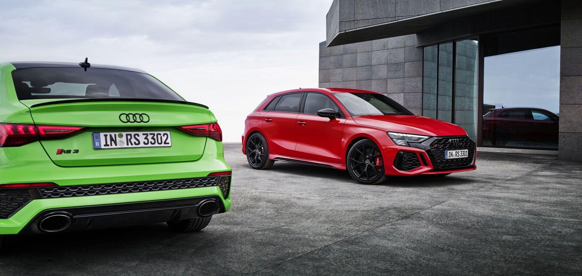 Audi представила нові версії RS 3 та RS 3 Sportback