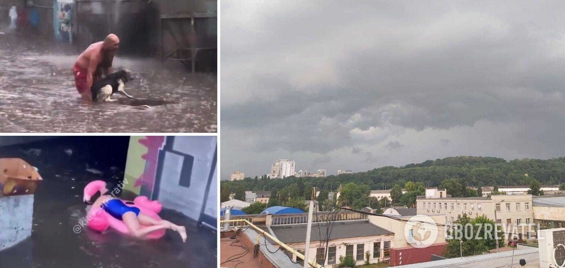 Жители столицы по-разному отреагировали на стихию