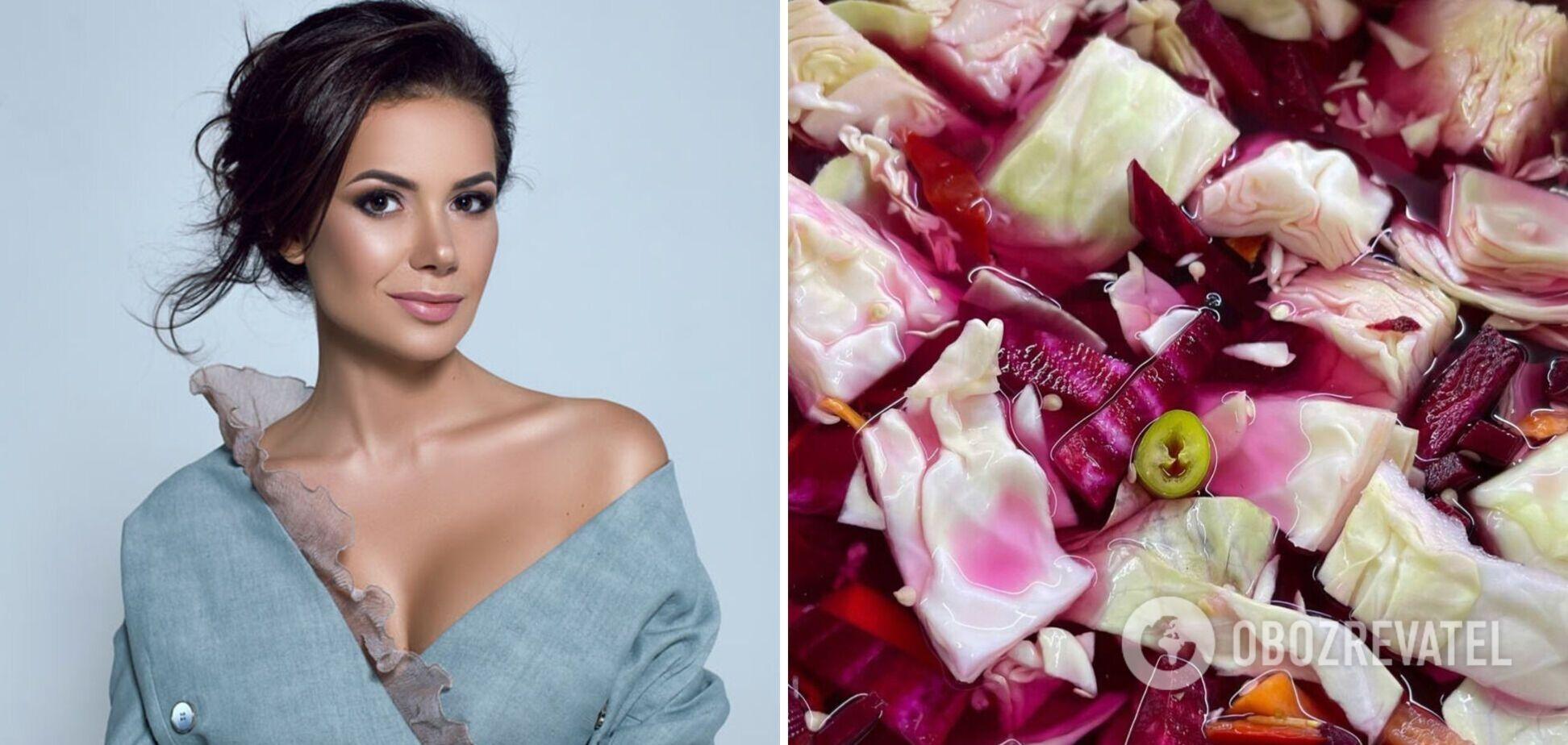 Рецепт розовой маринованной капусты от Алины Шаманской