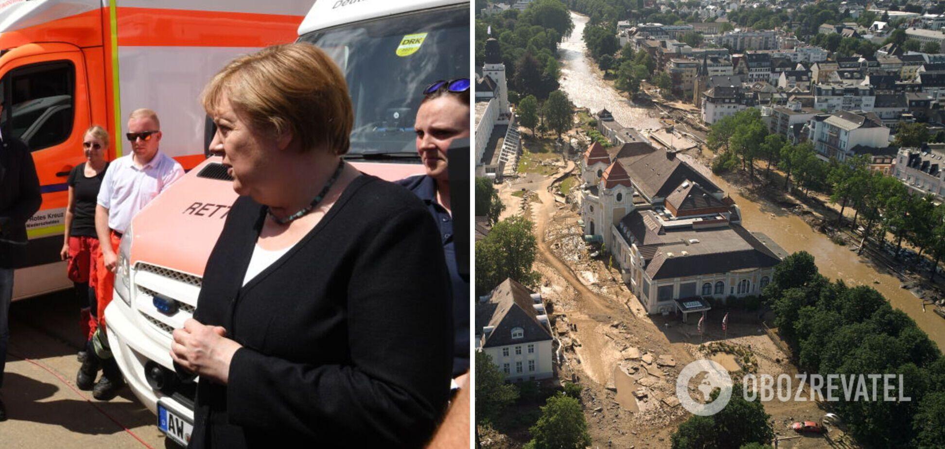 Ангела Меркель заявила о росте количества жертв от наводнения
