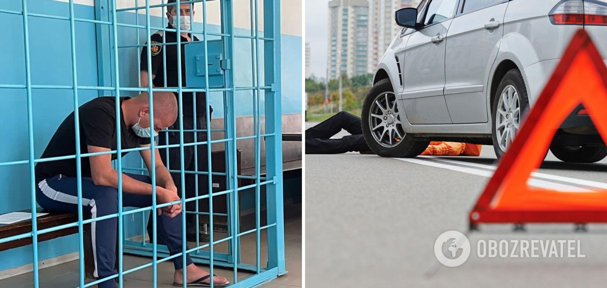 Херсонського патрульного, який п'яним за кермом збив підлітка, відправили за ґрати. Фото