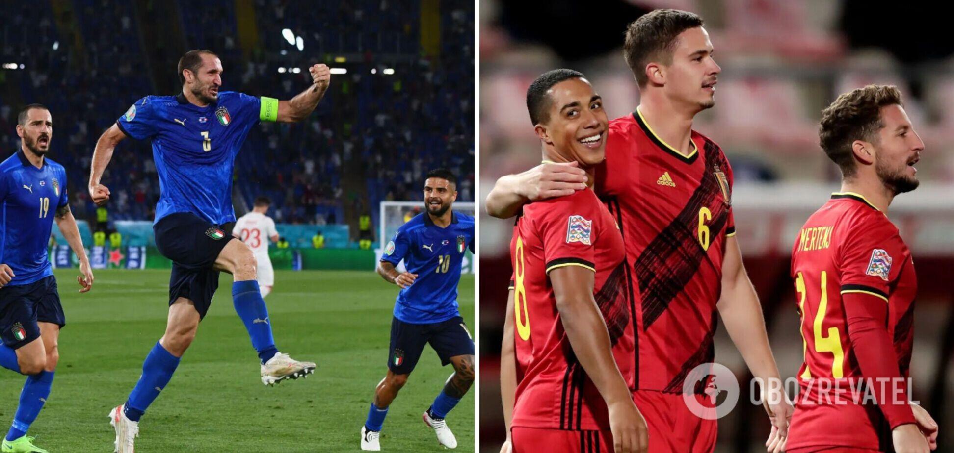 Італія та Бельгія зіграють в 1/4 фіналу Євро-2020
