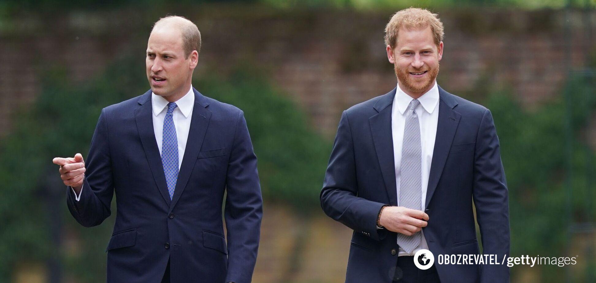 Принцы Уильям и Гарри встретились, чтобы открыть статую леди Ди. Фото