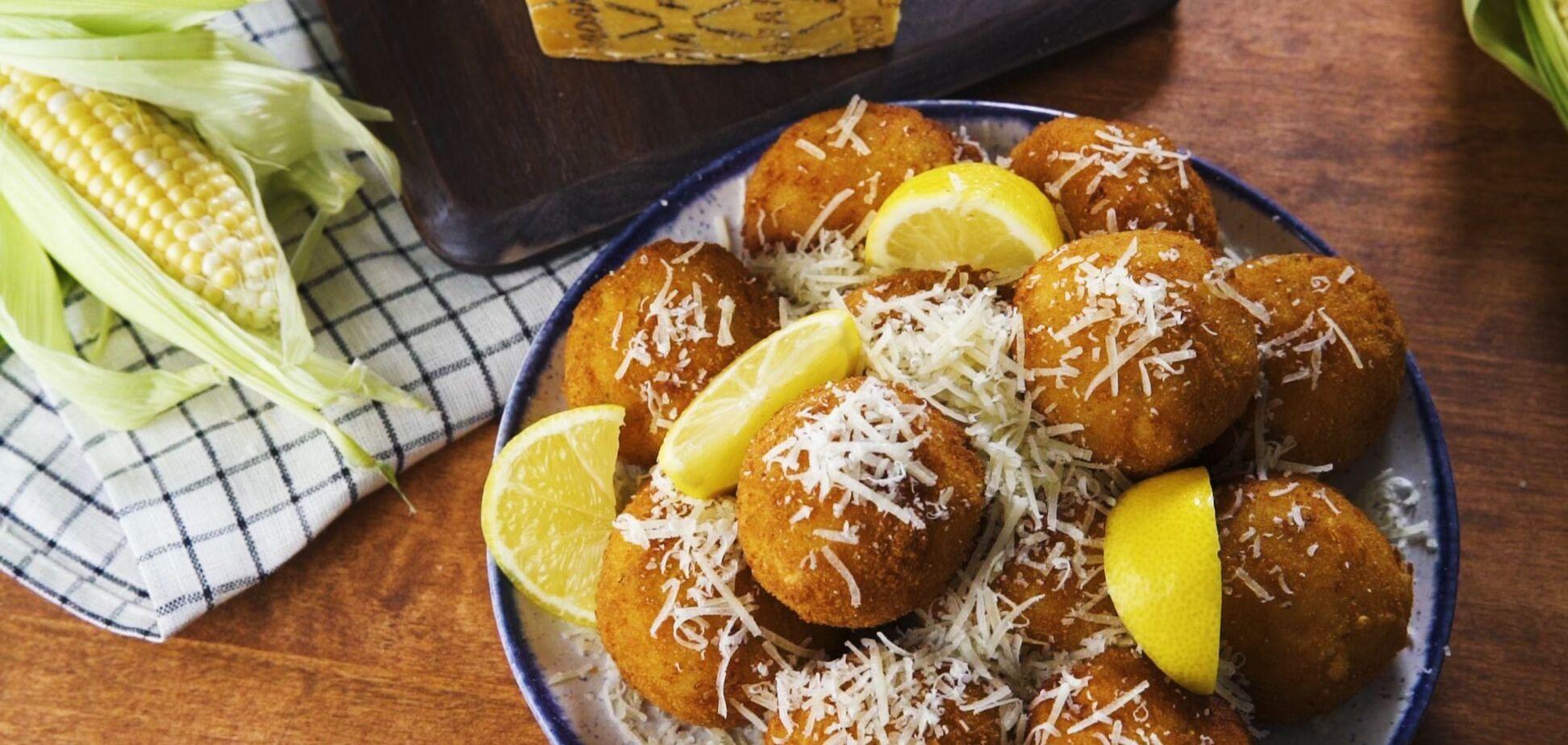 Італійська закуска аранчіні з Грана Падано: рецепт