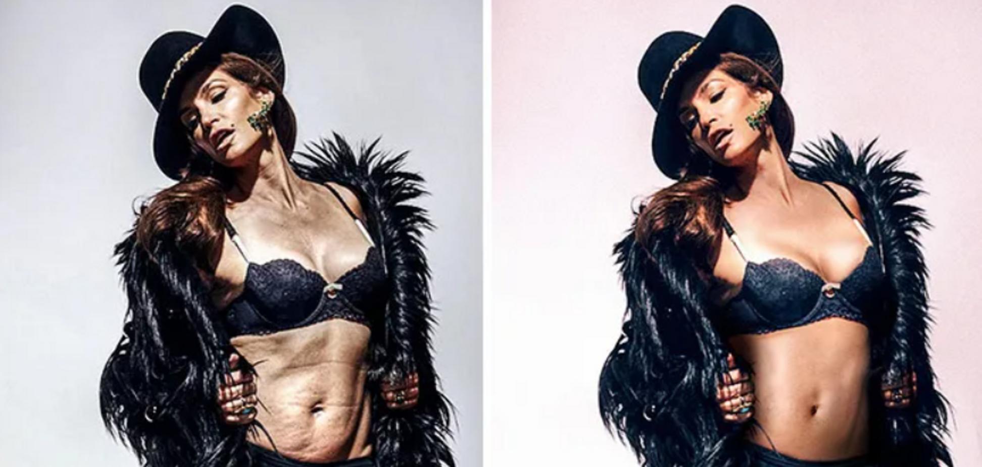 Мадонна и Ким Кардашьян редактируют фотографии в фотошопе