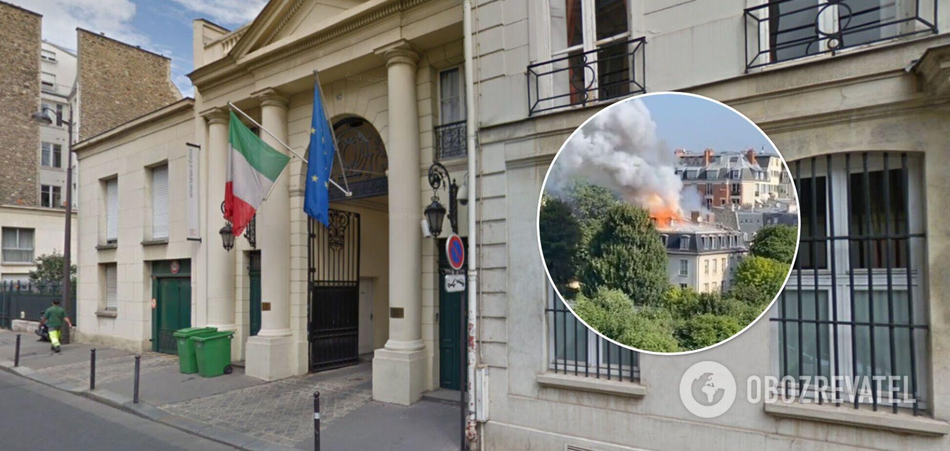 Поруч розташоване посольство Італії у Франції