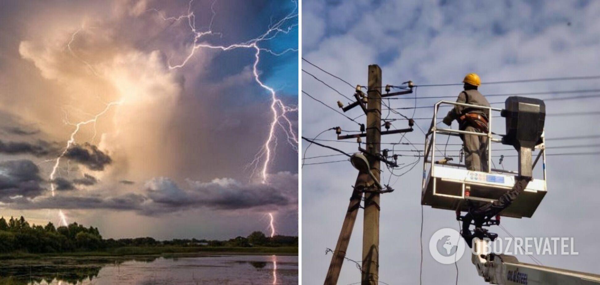 В Україні знеструмлено 75 населених пунктів, синоптики оголосили нове штормове попередження