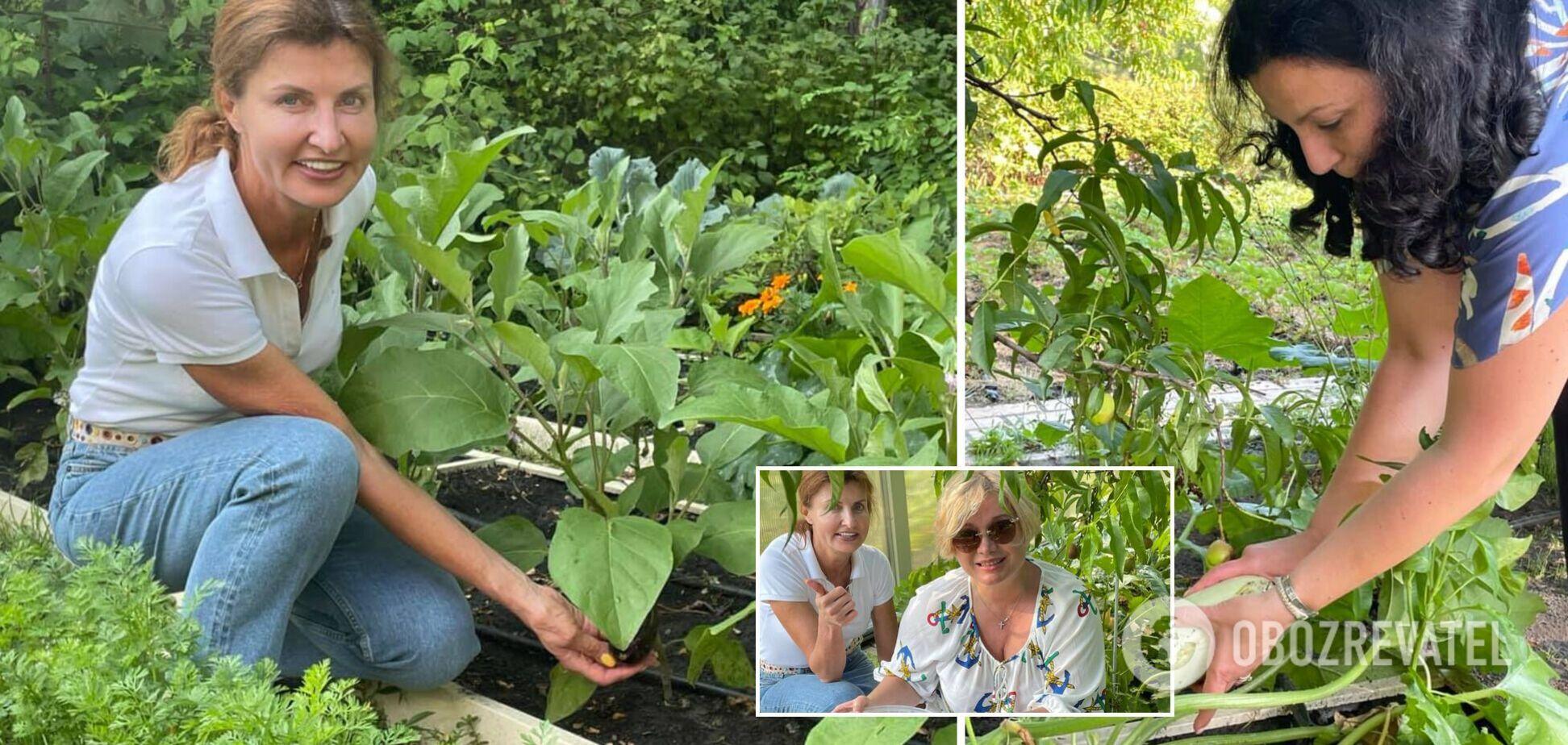 Марина Порошенко показала город та поділилась секретом, як рятує урожай від шкідників. Фото