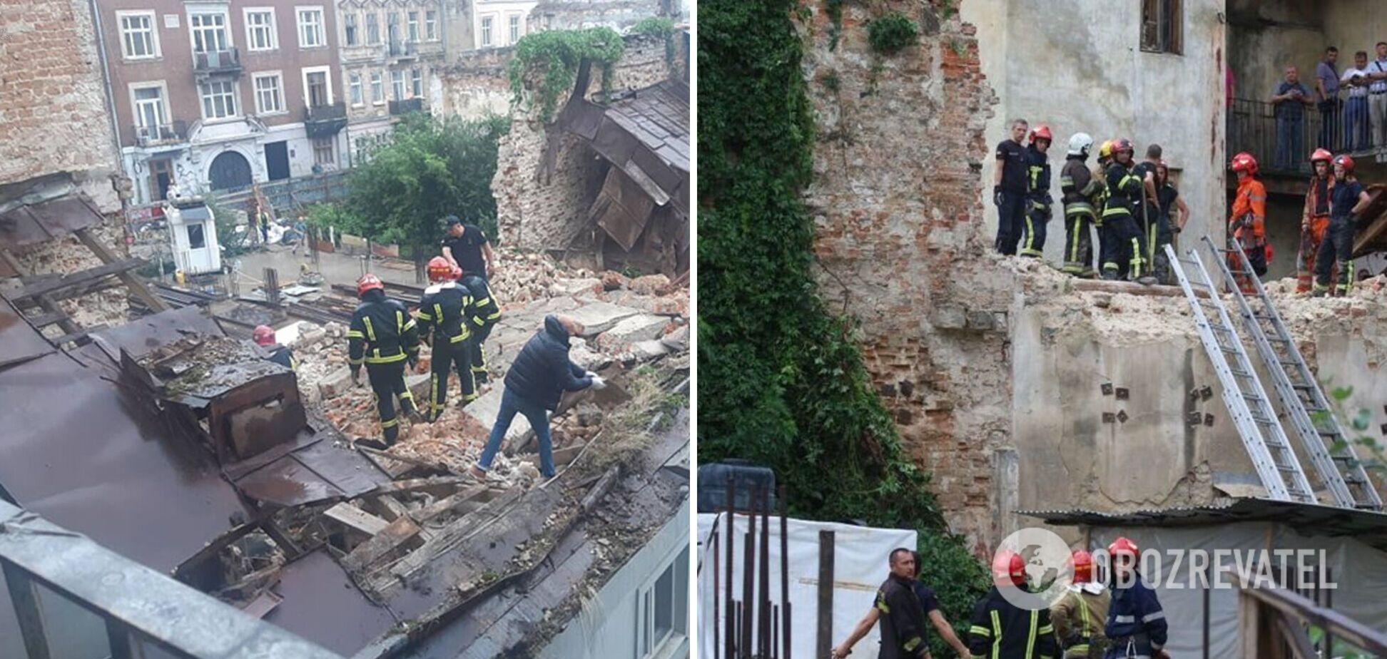 Обвал дома в центре Львова