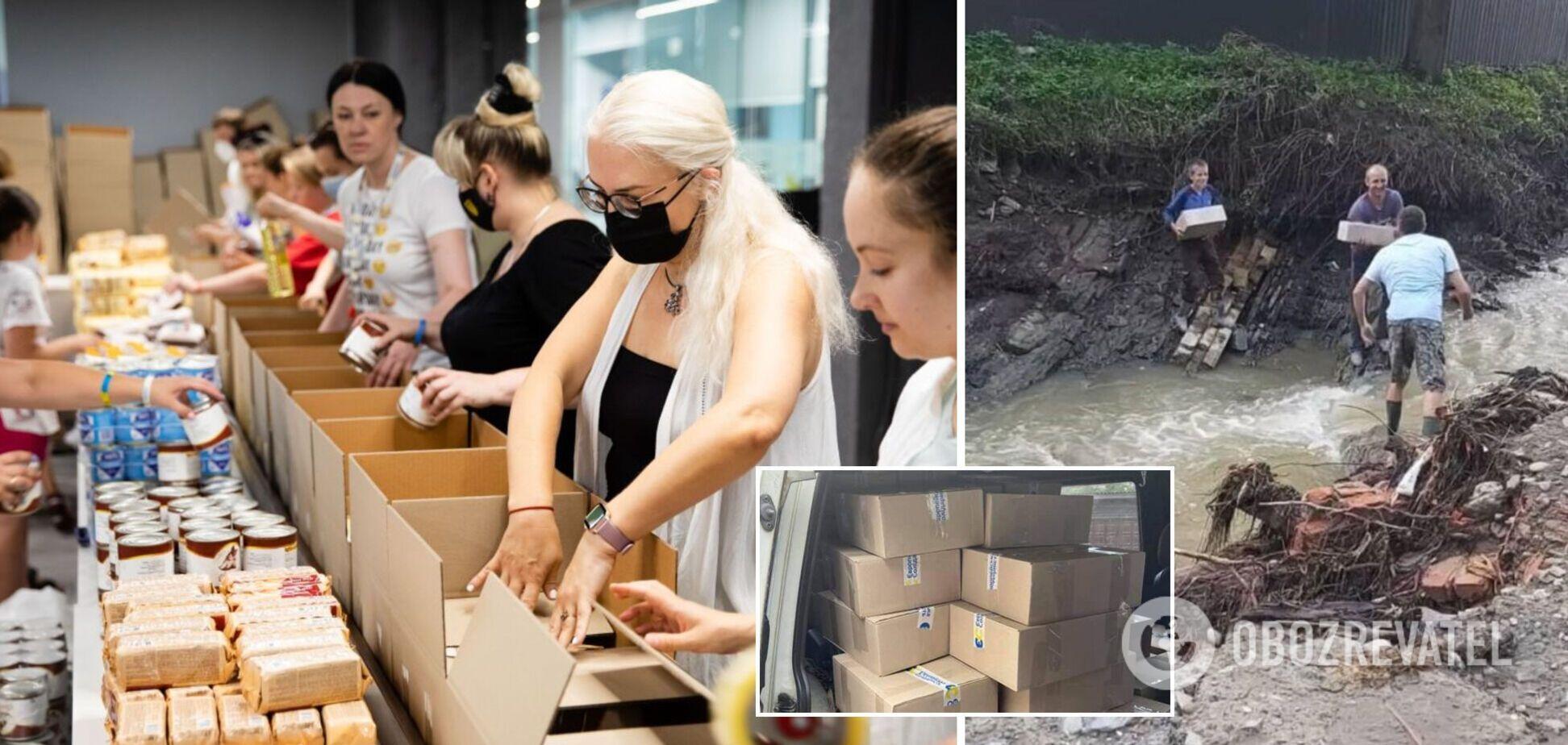 Фонд Порошенка та волонтери відправили допомогу для постраждалих від повені на Закарпатті. Фото